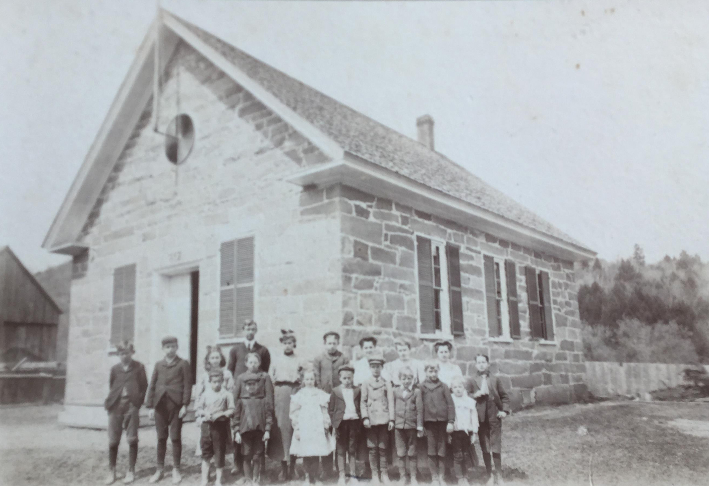 Rupert attended the Prosper School, which was located at the base of the North Bridgewater Road, a short distance from his home. Rupert is shown in the front row, fourth from the left.
