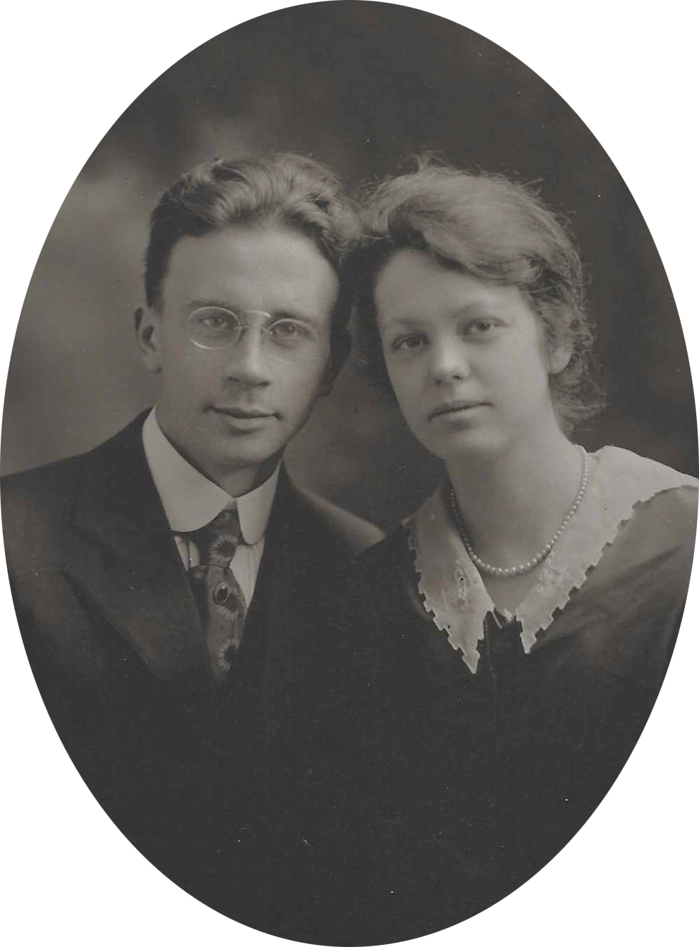 Wedding photo of Rupert and his wife, Ruth (both age 21)