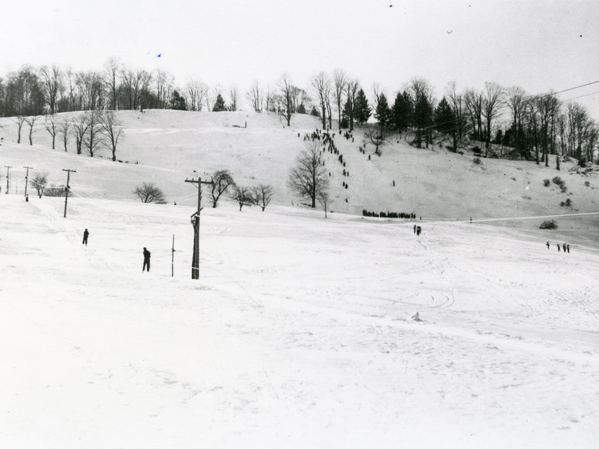 View of Prosper Ski Hill