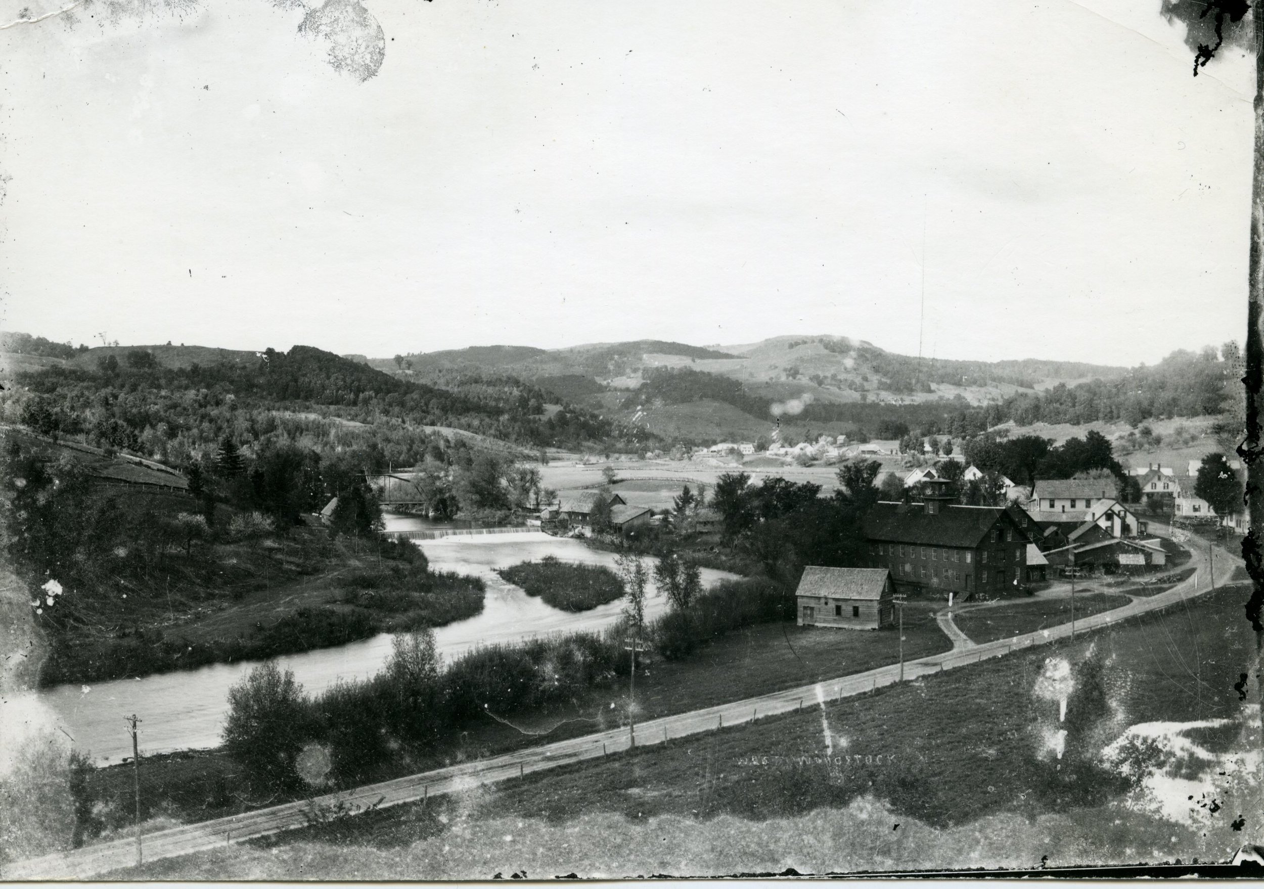 View of West Woodstock - Historically known as The Flats