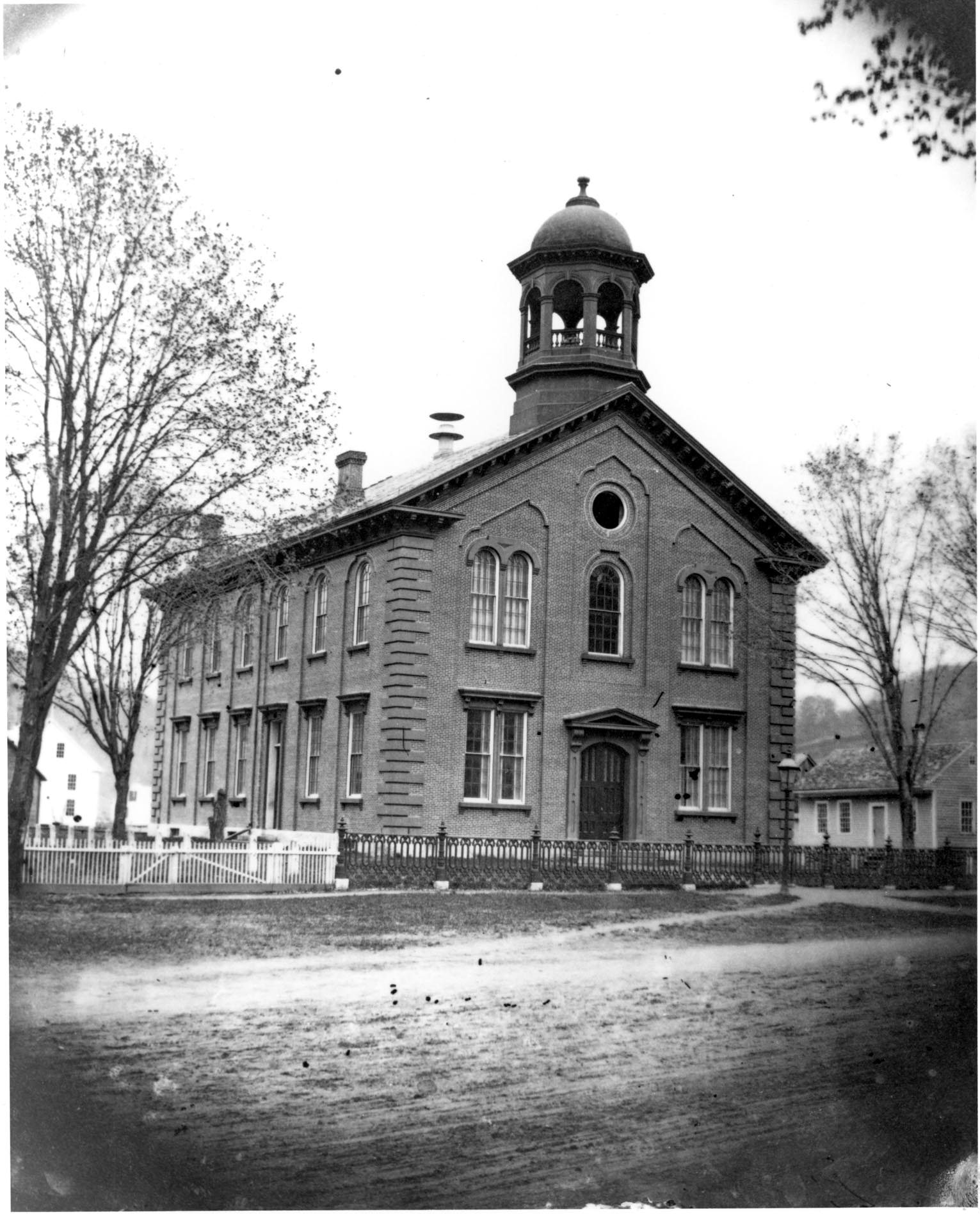 The County Courthouse in the village, built in 1855. -
