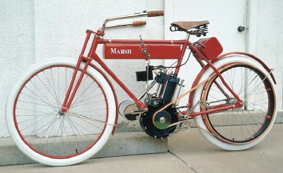 A Marsh motorized bicycle -