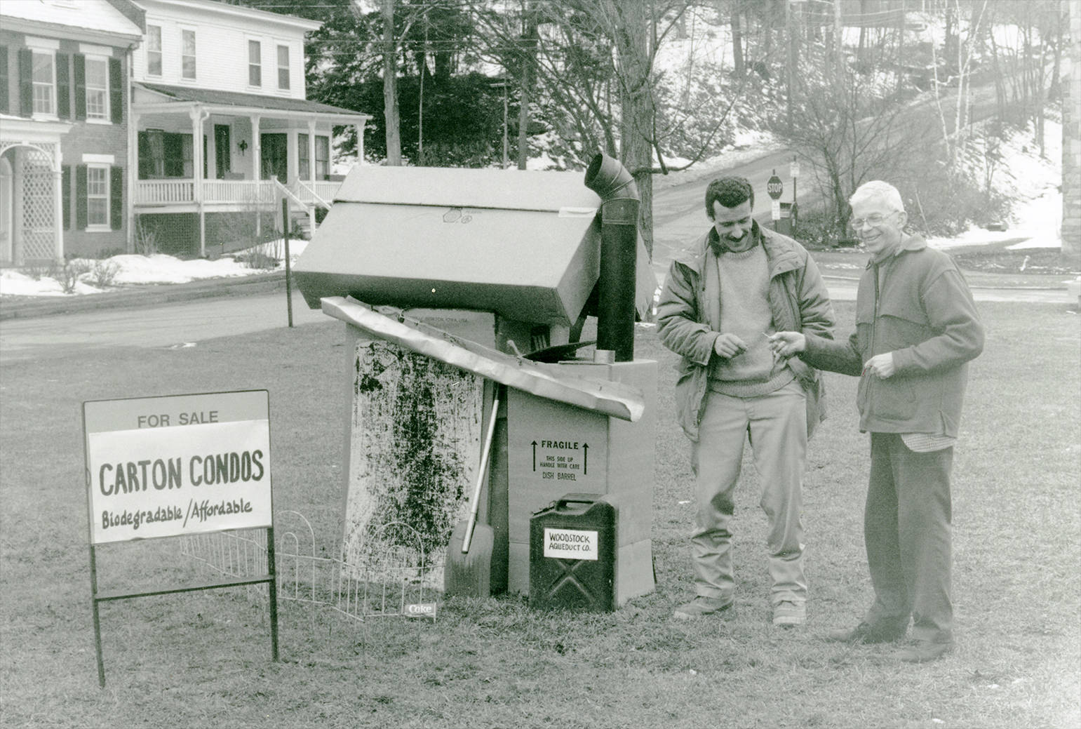 Frank selling biodegradable, affordable condos