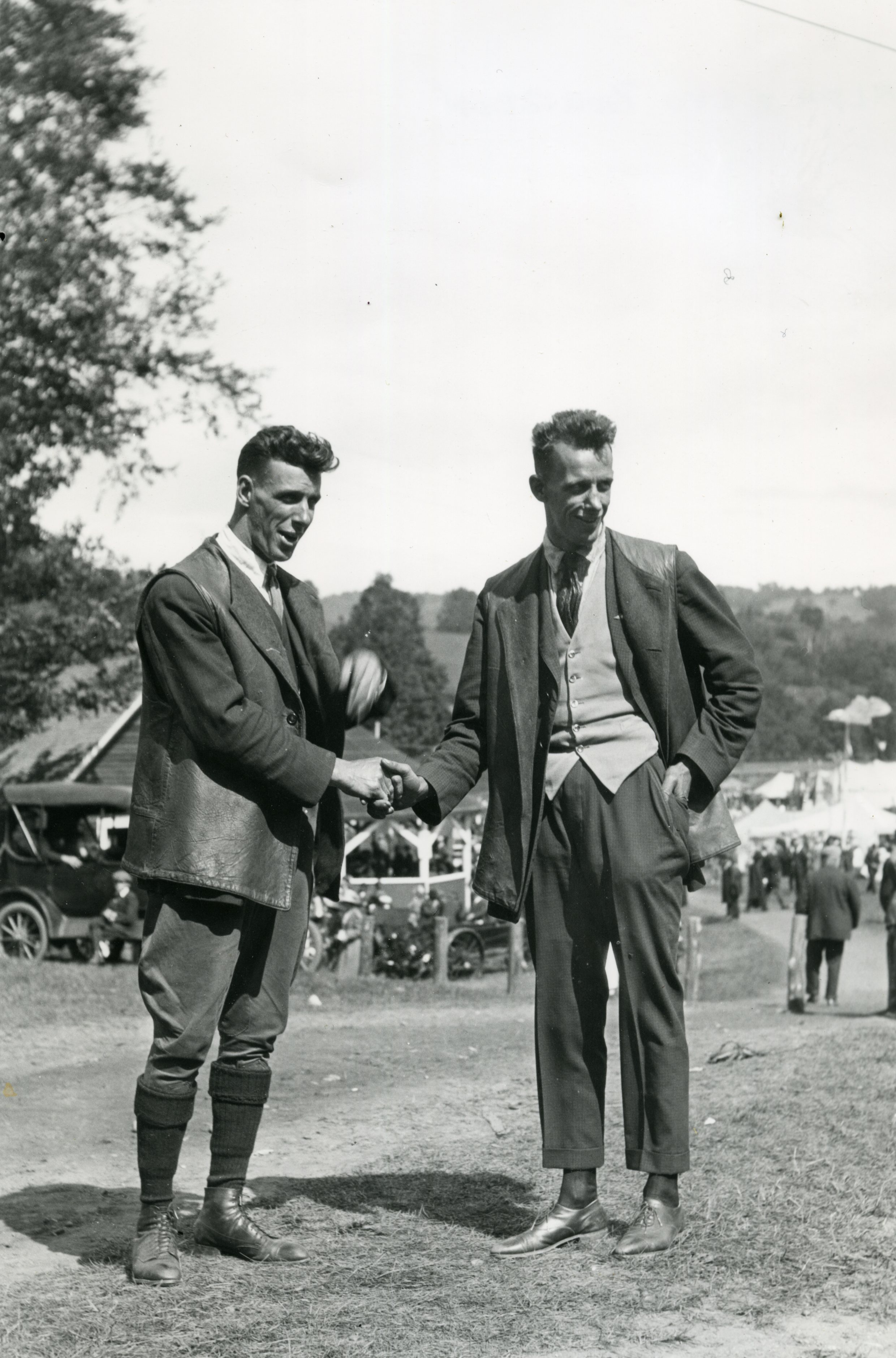 "An article in The Vermont Standard, dated August 2, 1917, notes that Allan Bourdon and his brother visited Woodstock for the Windsor County Fair that year as well. That article states: ""The Bourdon Brothers, Leo and Allan, two Woodstock boys, landed on the Country Club golf course last Saturday, the first airplane ever to alight in this town, where they came to give exhibitions at the Windsor County Fair this week. Allan Bourdon, who is tester of new-made machines at the Gallaudet airplane establishment in Greenwich, R.I., is the flyer, and Leo Bourdon comes as his assistant."