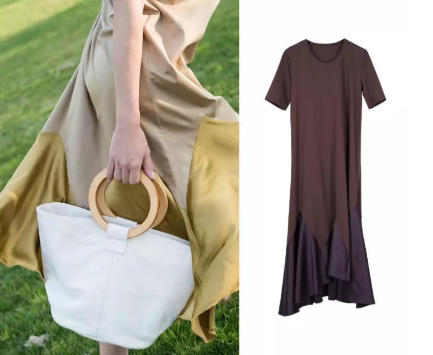 What is the secret to a great outfit?    This set of clothes gives the impression of an elegant evening dress, but the fabric has the comfort of a one piece dress, easily paired up with a pair of comfortable slippers to change up an outfit.