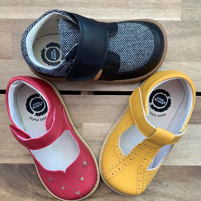 Livie & Luca. Nailing it every time. Super cute. Super comfy. 🖤💛❤️ . . . . . #goldenbugshoes @livieandluca #preciousshoes #kidsshoes #oakland #berkeley #collegeavenue #shoestore #kidsstore #maryjanes #tstrap