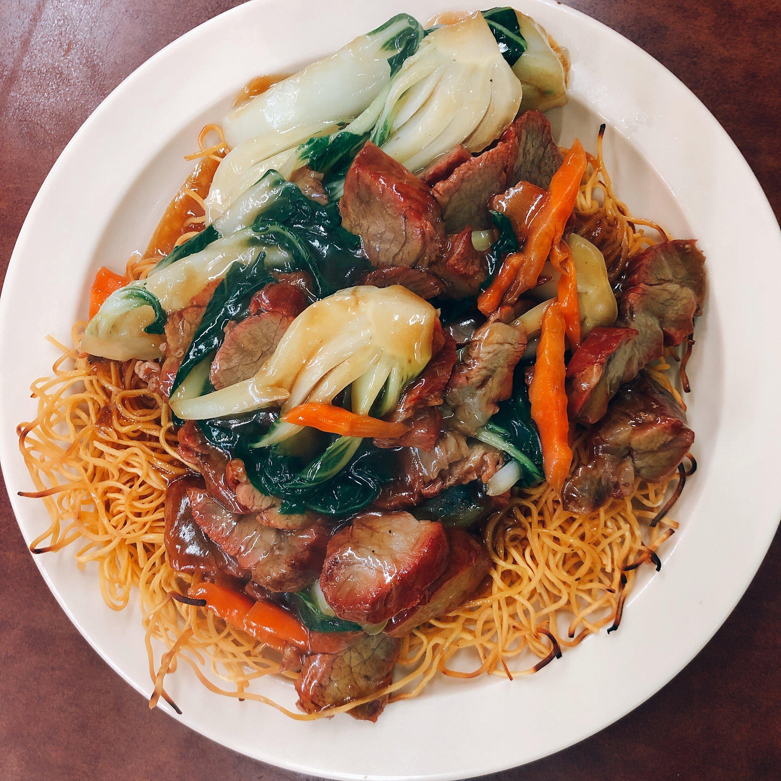 Roast Pork Fried Noodles - Yuet Lee