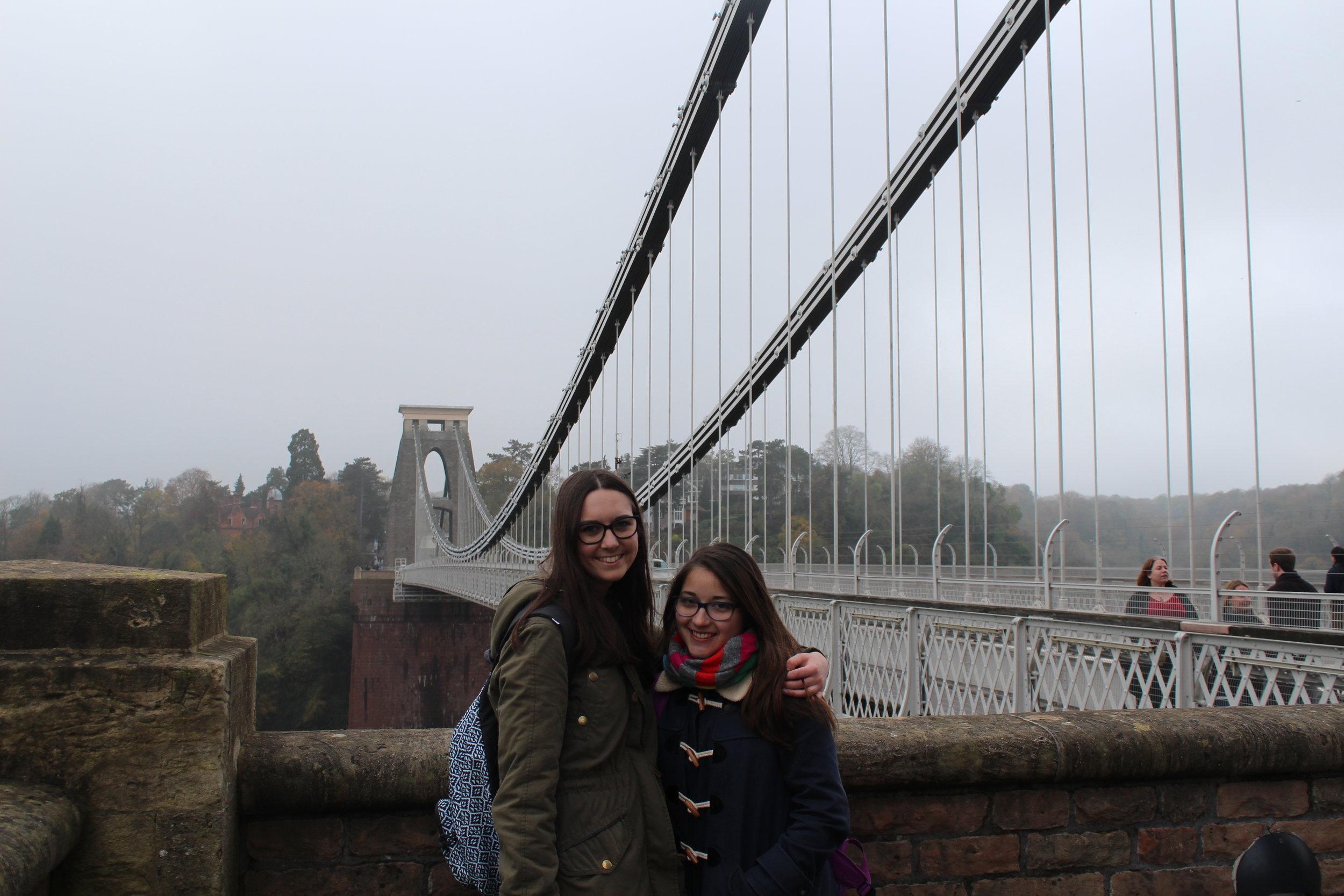 Isa and I outside the Suspension Bridge #TouristShot