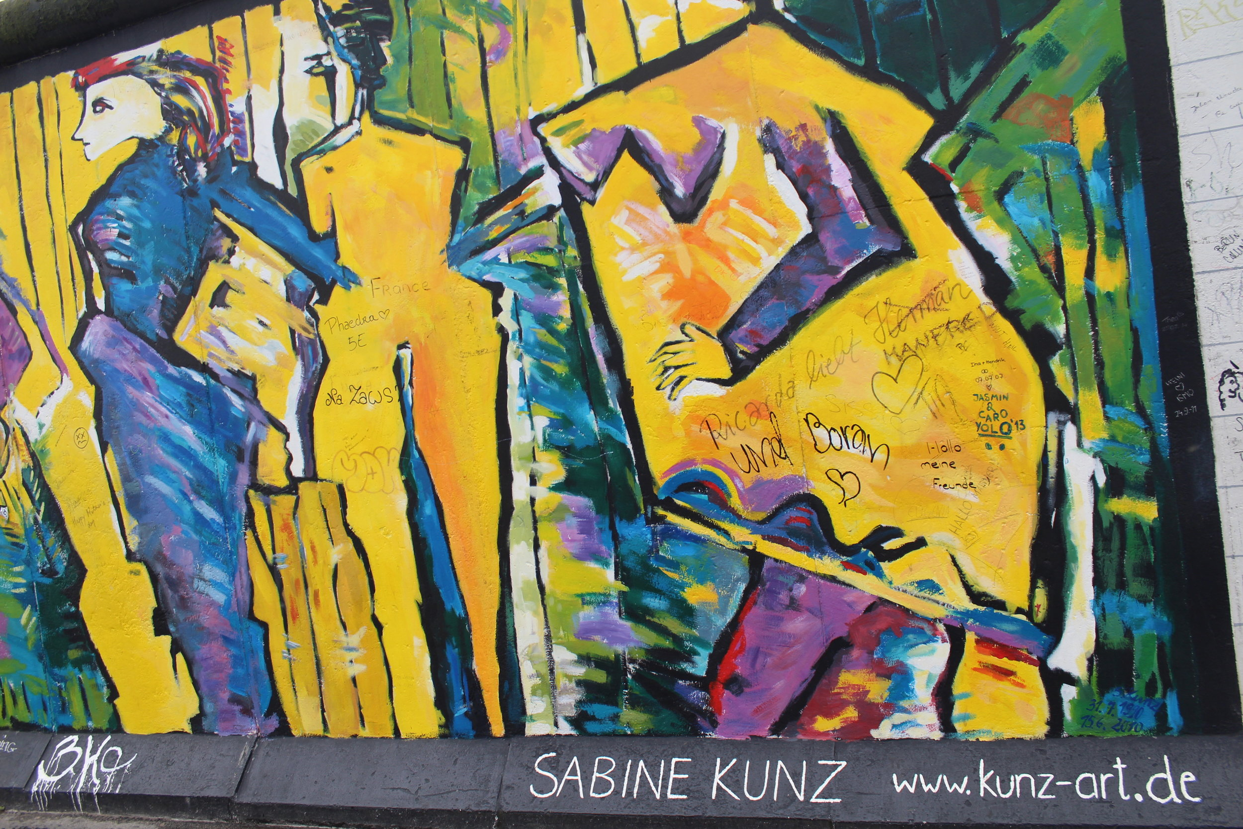 This striking painting has become one of the most memorable images from my trip to the East Side Gallery, created by Sabine Kunz of East Germany.