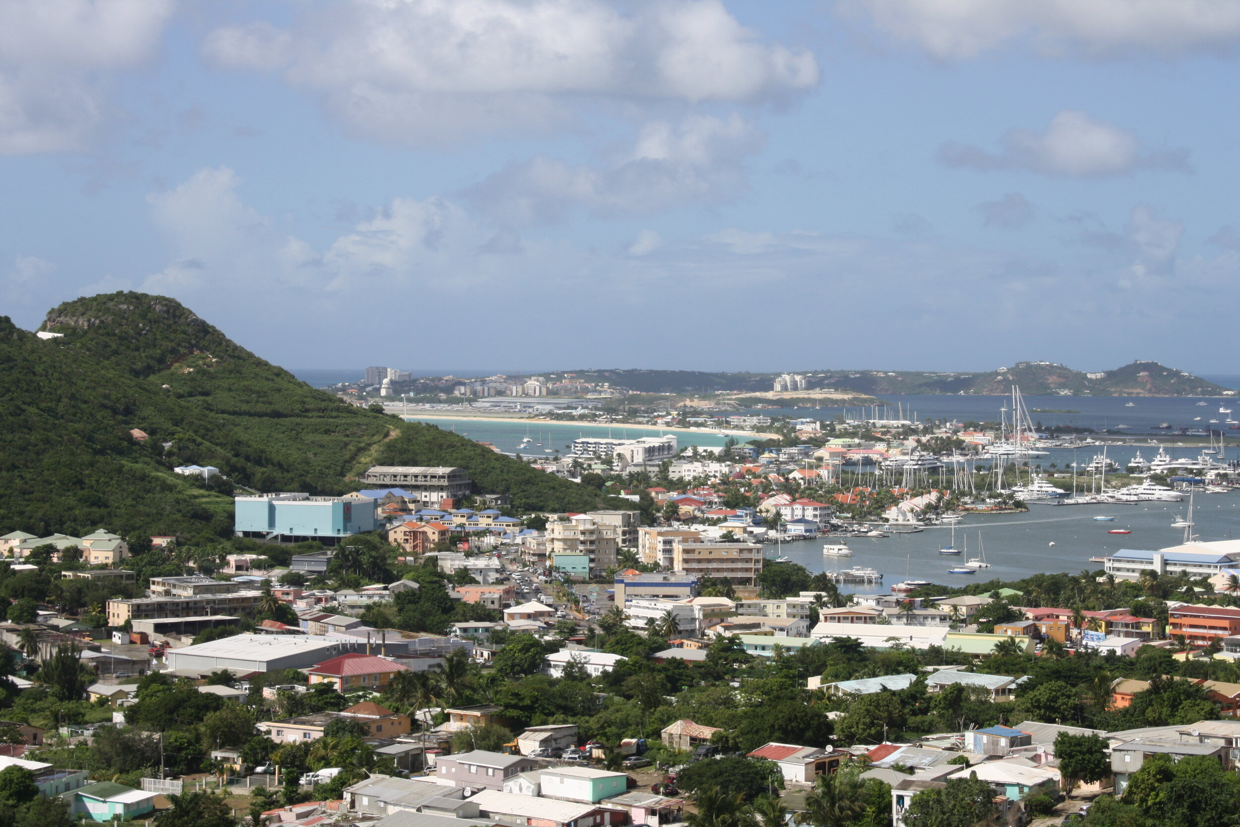 Marina view in St. Lucia
