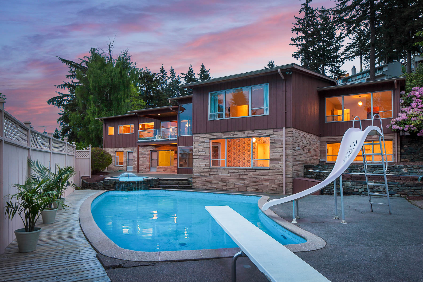 Mid century home with pool in Bellingham