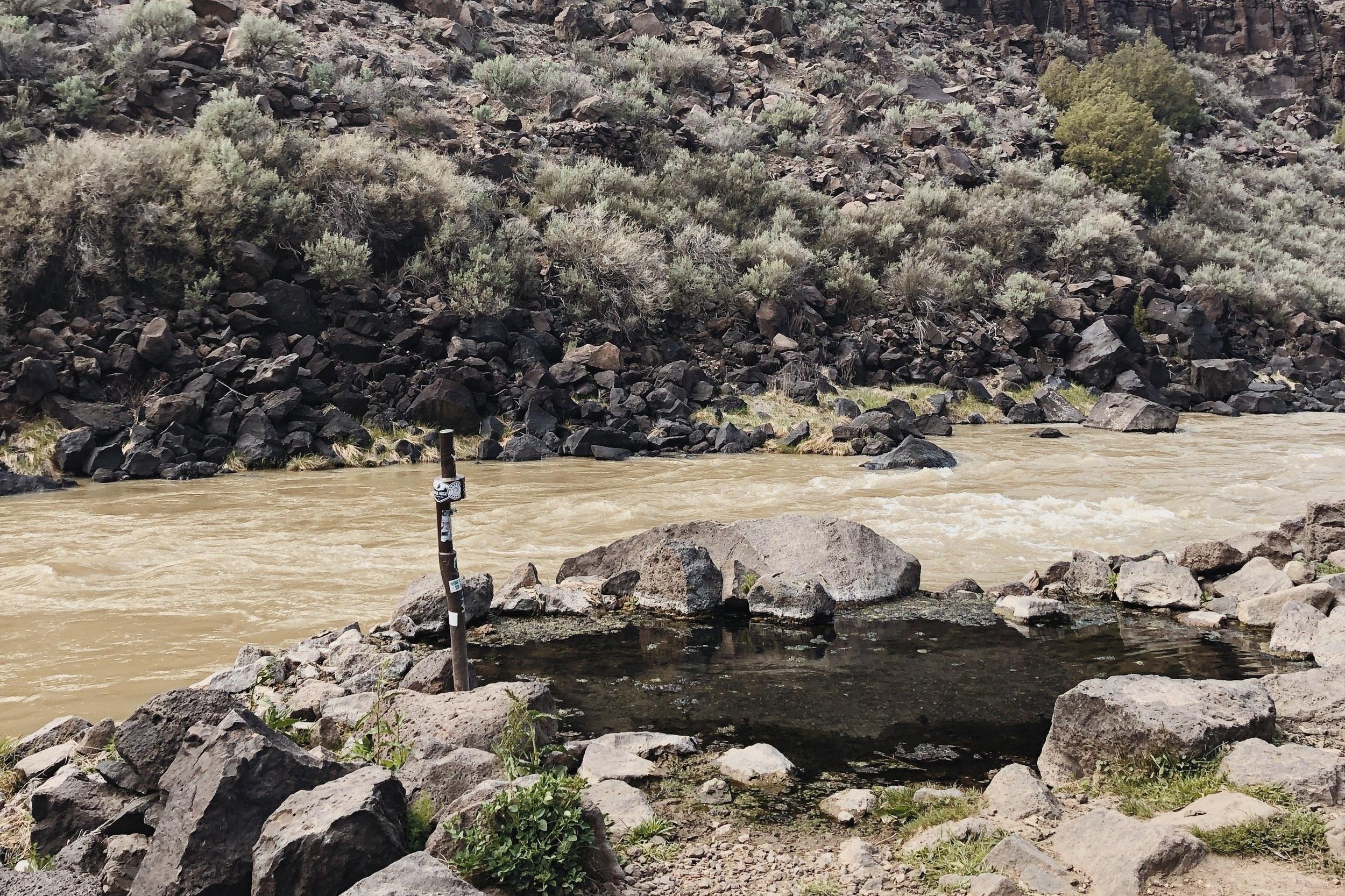 Wild hot springs - somewhere near Taos.