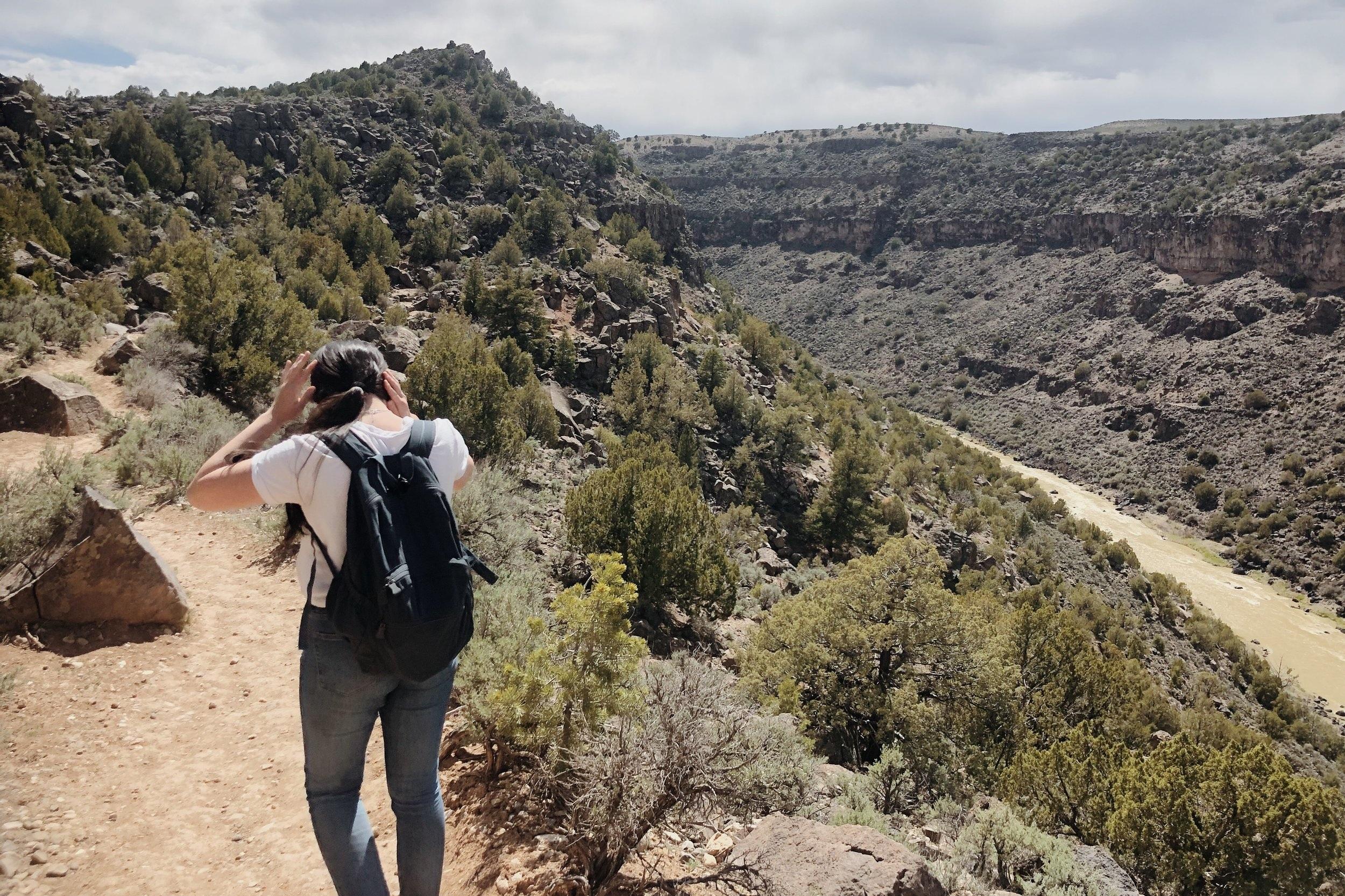 Hiking in the Rio Grande Gorge.