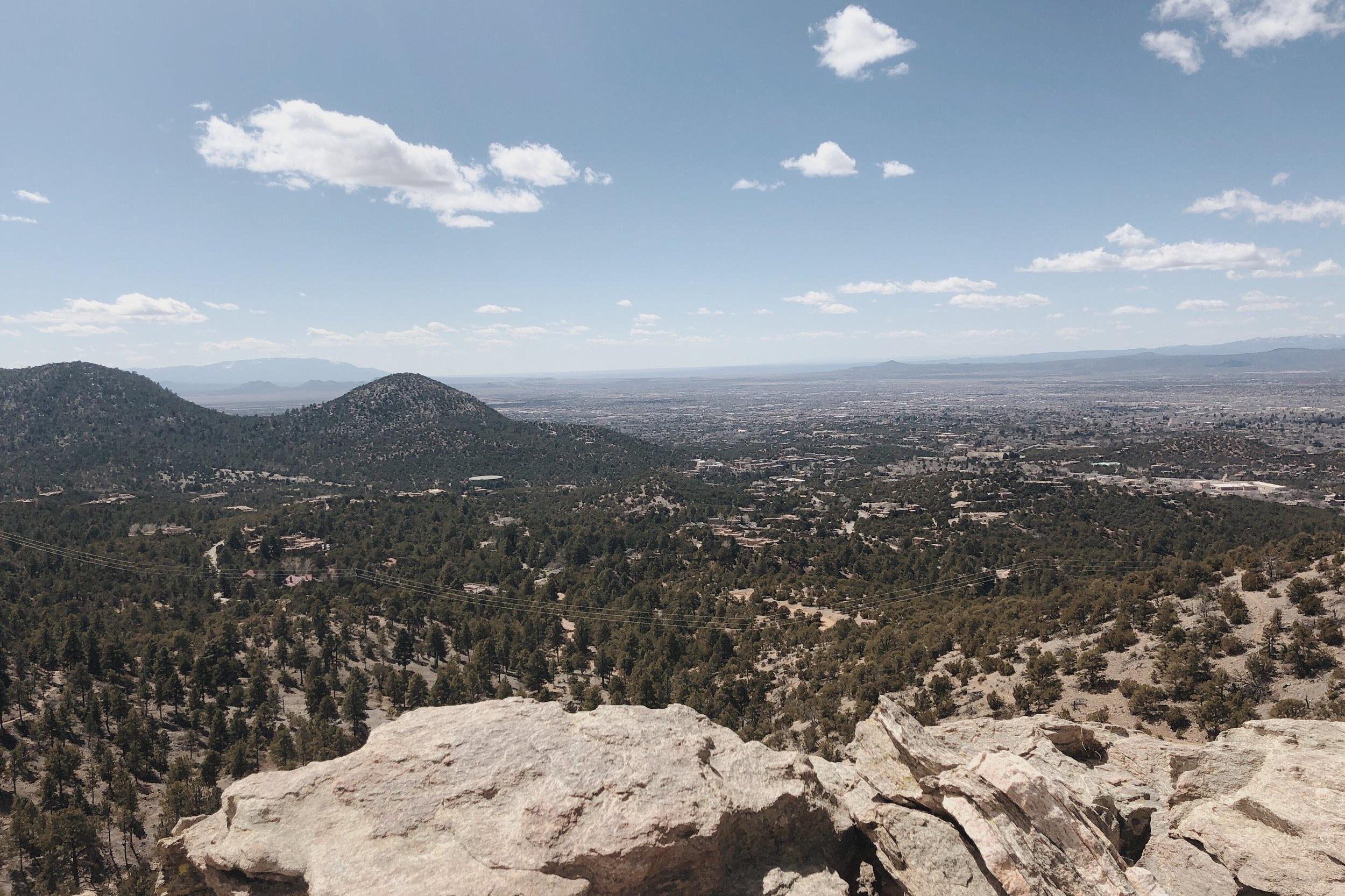 Santa Fe from above.