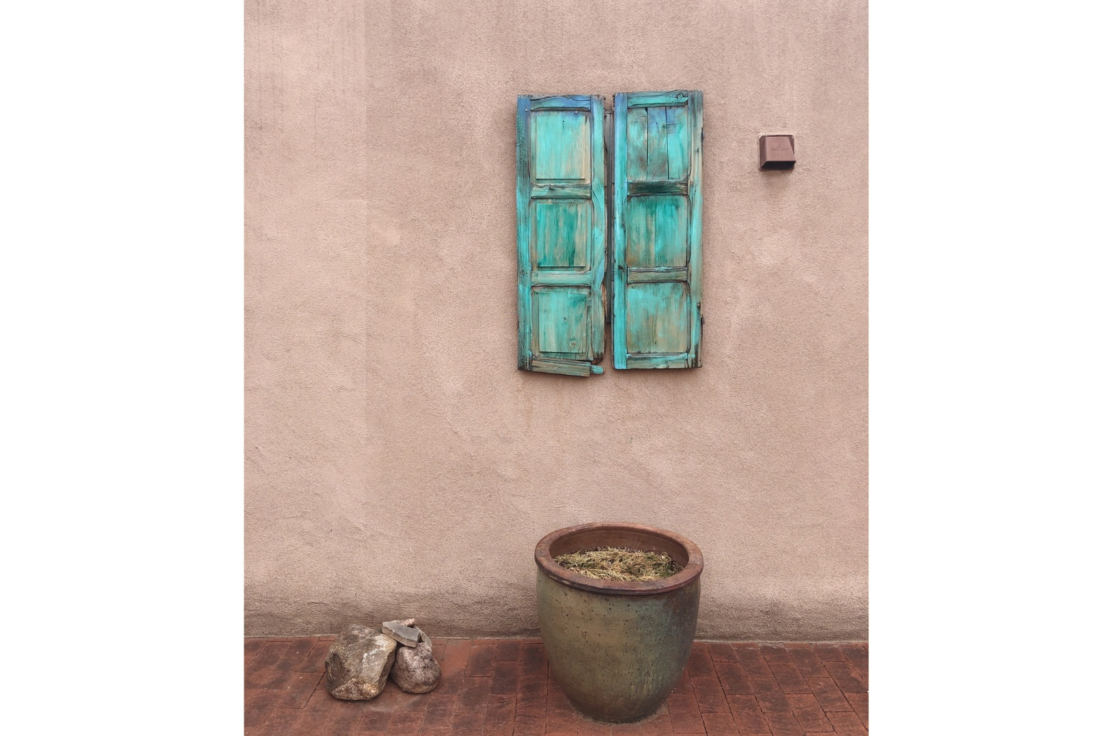 'The most photographed shutters in Santa Fe', according to a local artist.