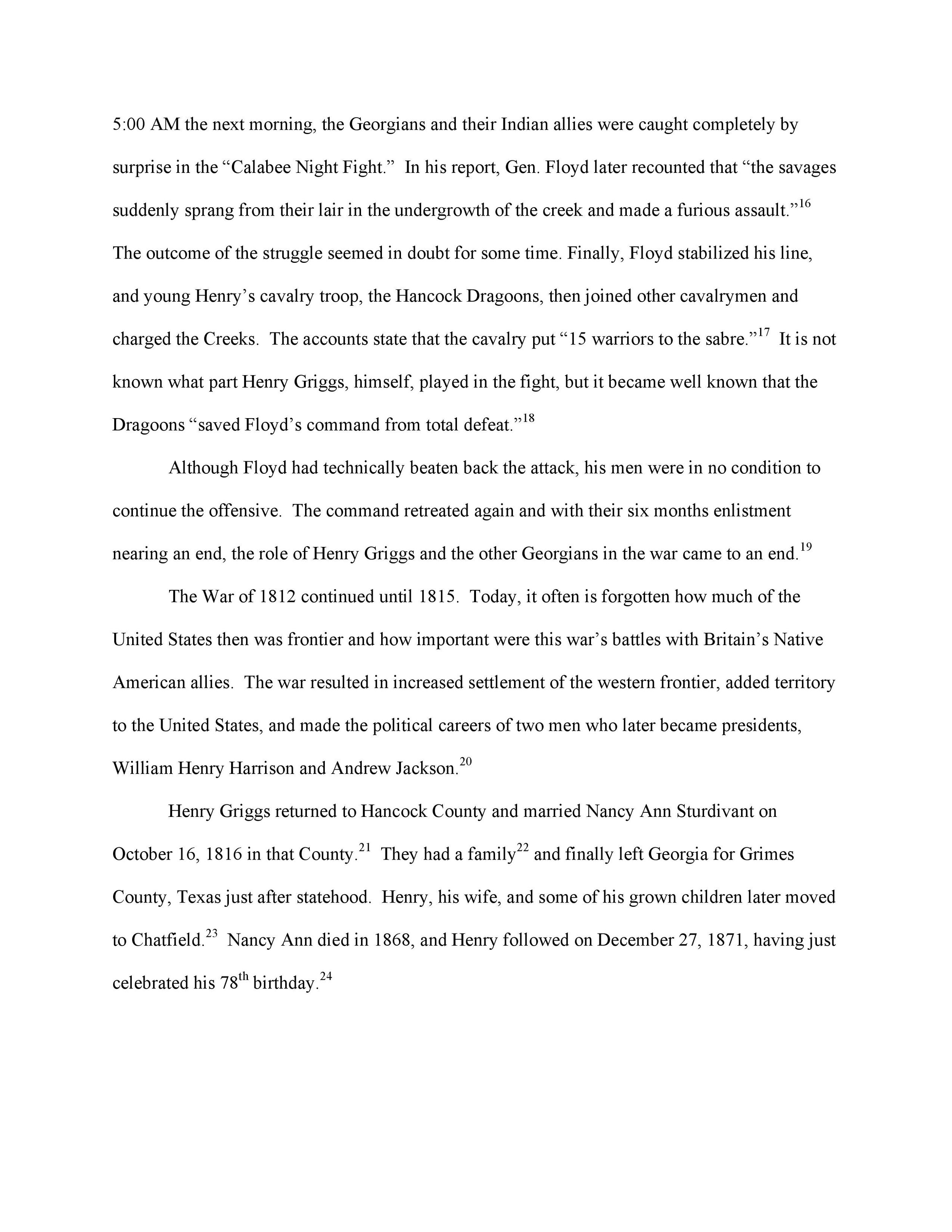 Henry Griggs: Bio, Page 4