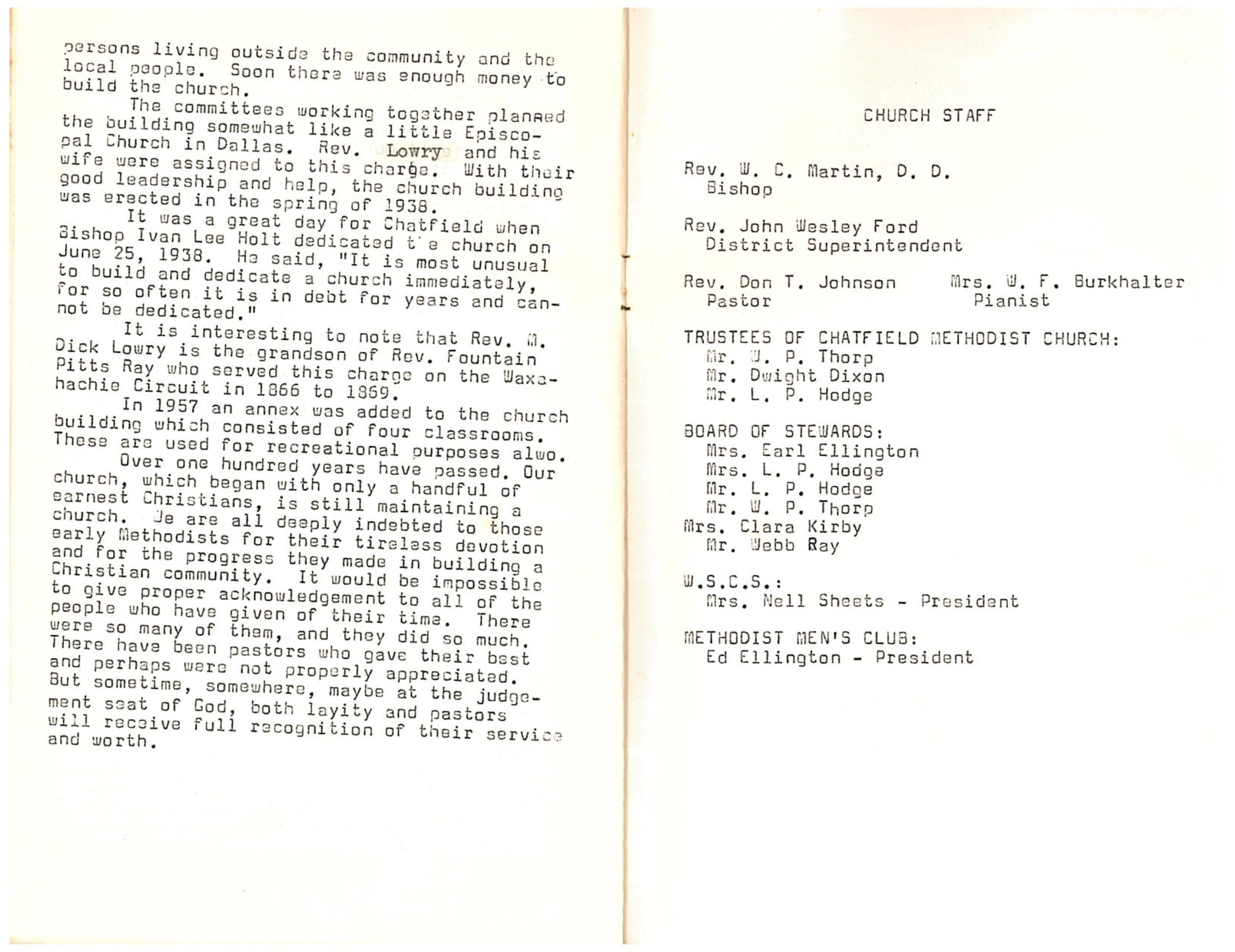 Chatfield MC Centennial: Page 6