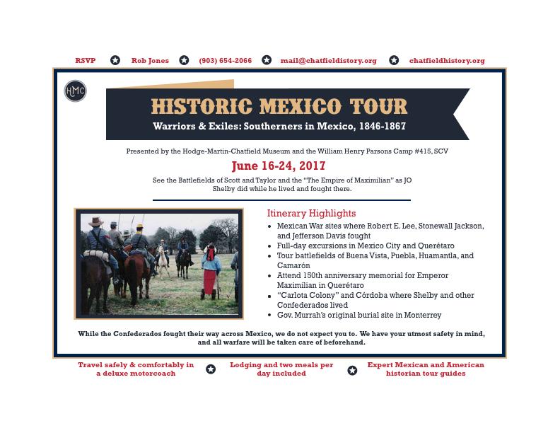 Historic Mexico Tour Flyer
