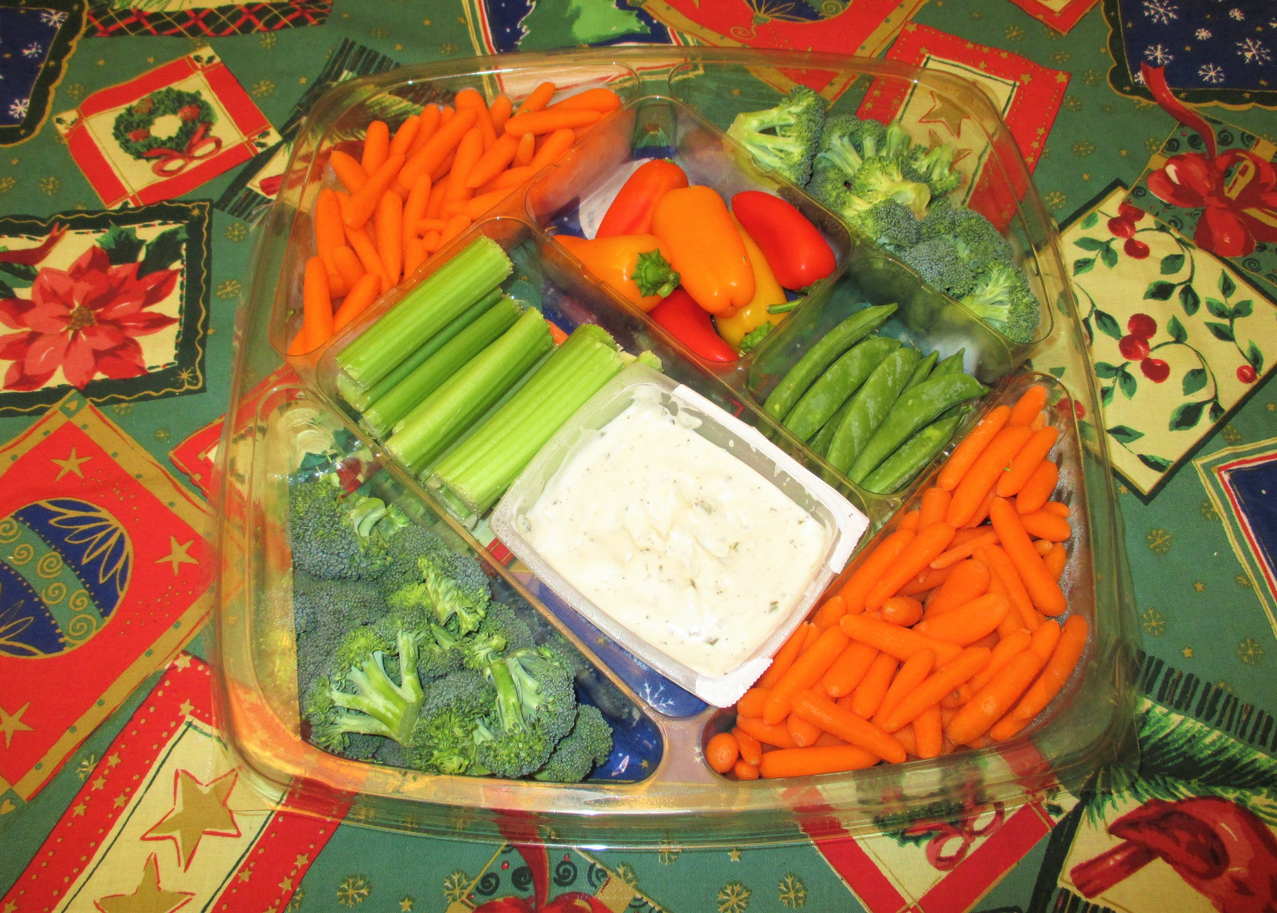 Use up your leftover veggie tray before you have to toss it in the compost pile!