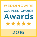 Wedding Wire Couples' Choice Award 2016