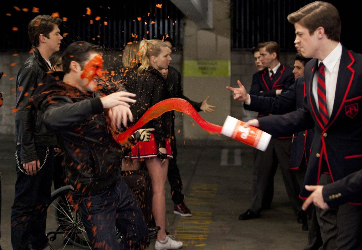 The scene from Glee Katie mentioned! Blaine finally got his revenge.
