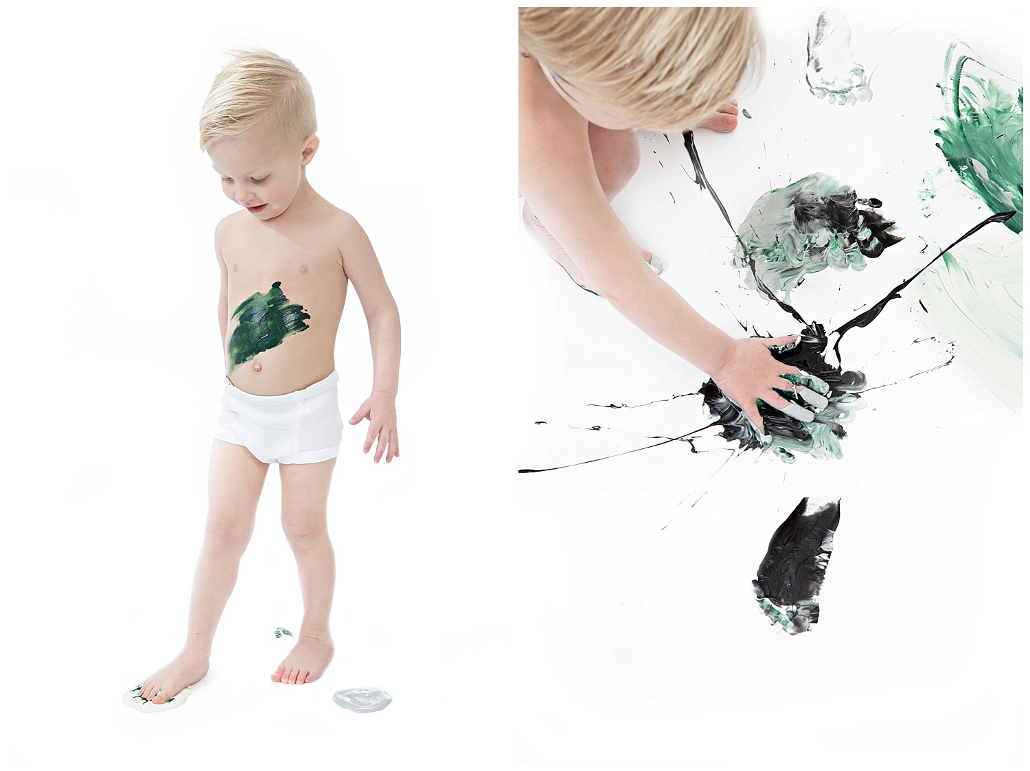 Andrea-Burolla-Photography-Denver-Childrens-photographer-kids-paint-session-little-boy-green-black-paint-splatter