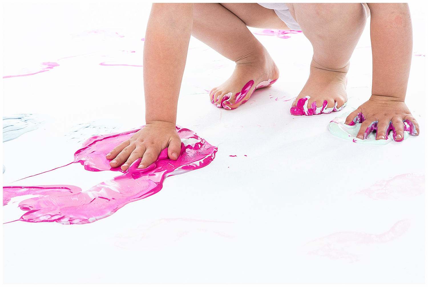 Denver childrens photographer paint session-little-girl-pink-messy.jpg