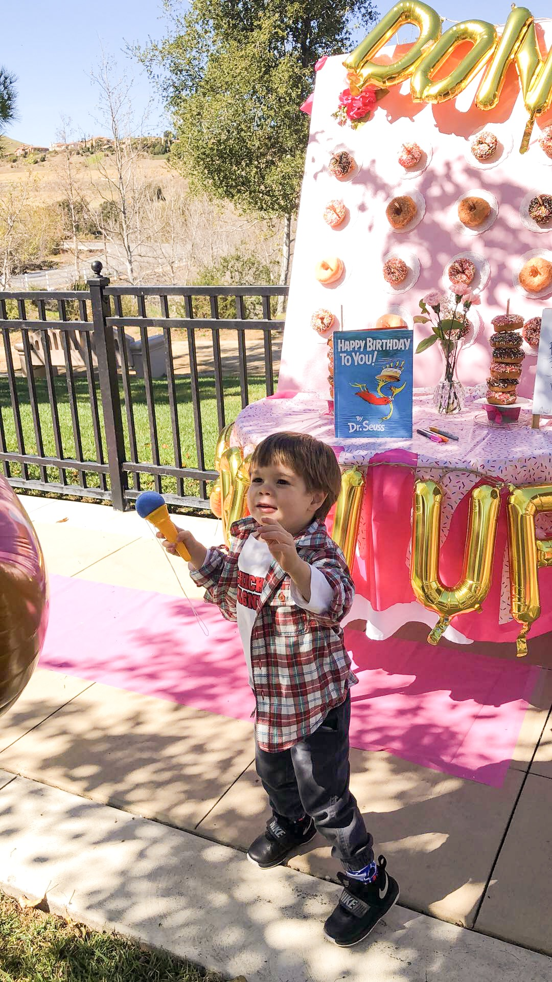Jace Trying to Pop our Donut Baloon!!
