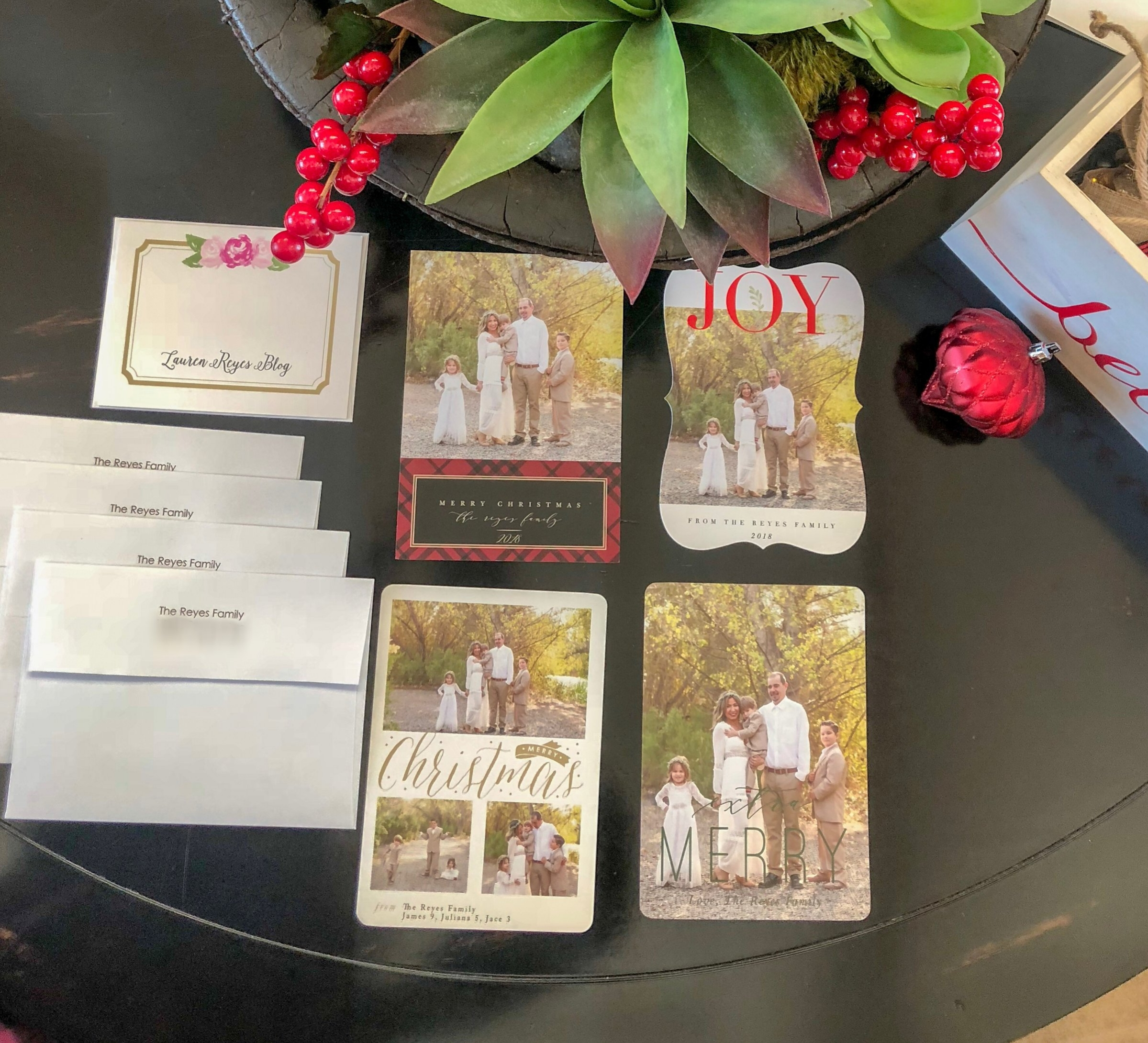Help us decide which Christmas card to go with! Tell me in the comments below!