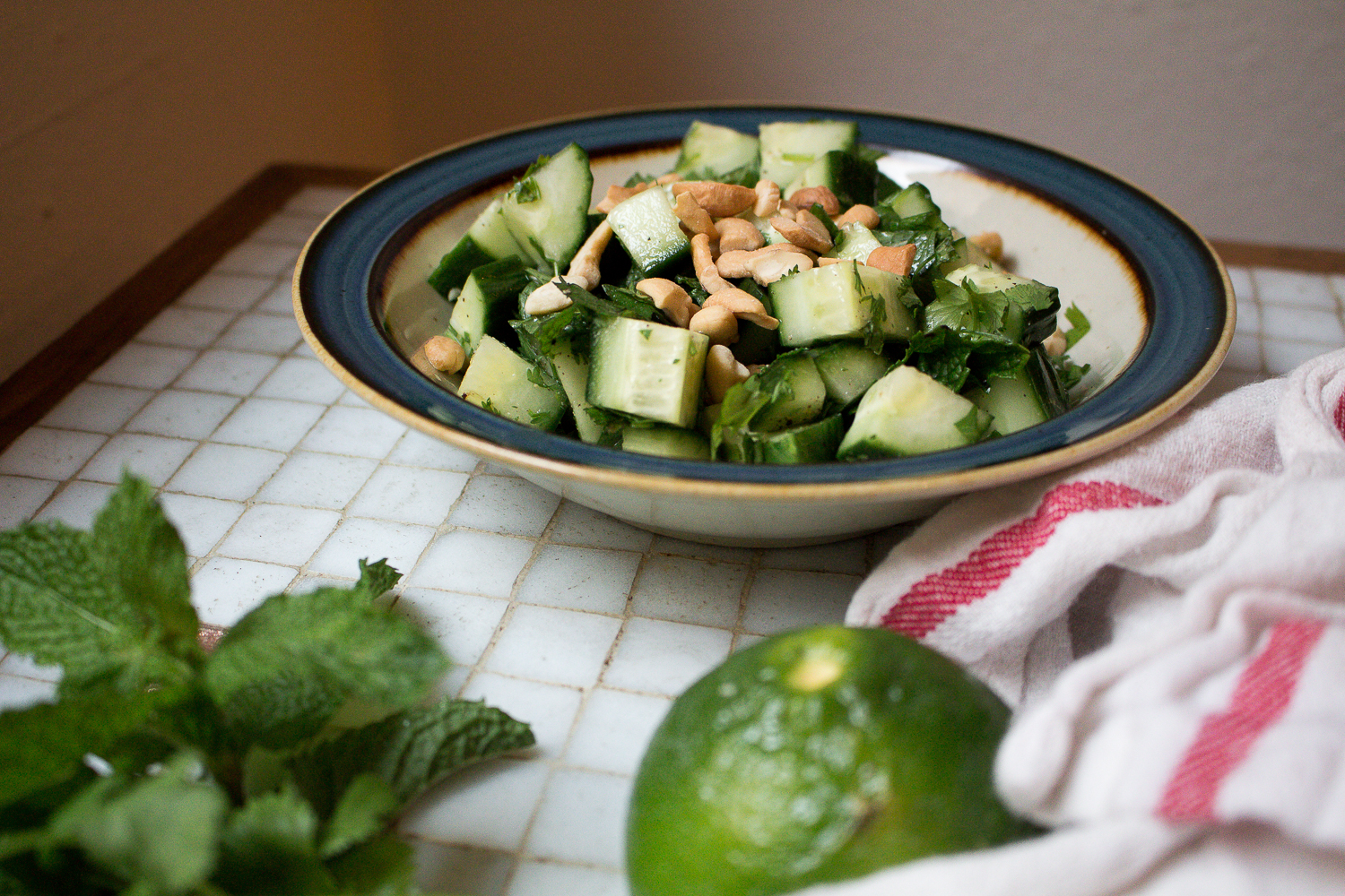 Thai Cucumber Salad with Cashews by Worthy Pause