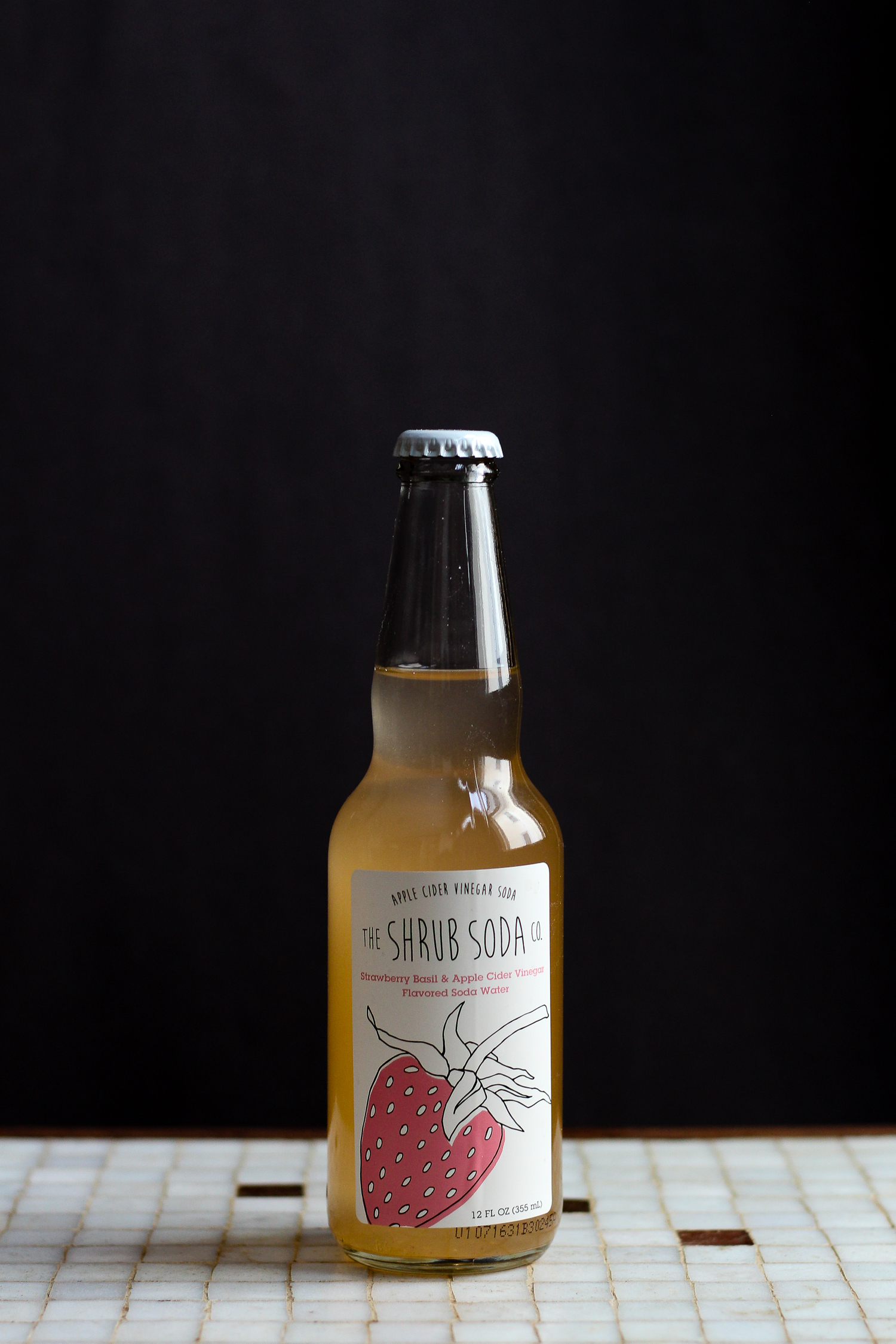 Strawberry, Basil & Apple Cider Vinegar Soda from The Shrub Soda Co. via Worthy Pause