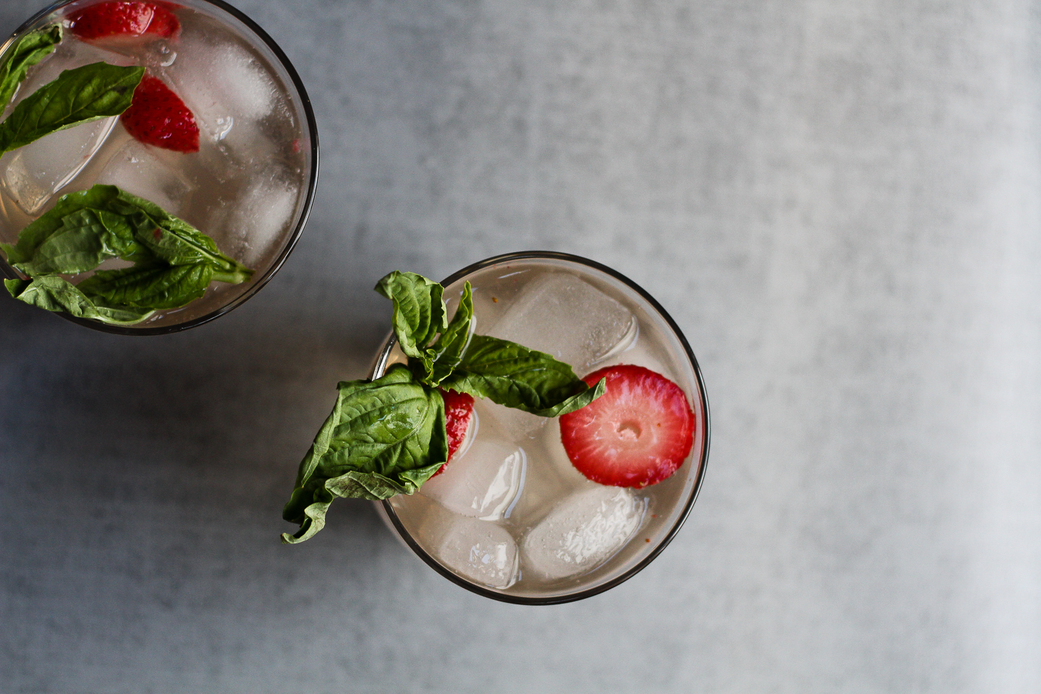 Strawberry-Basil Shrub Cocktail Recipe via Worthy Pause
