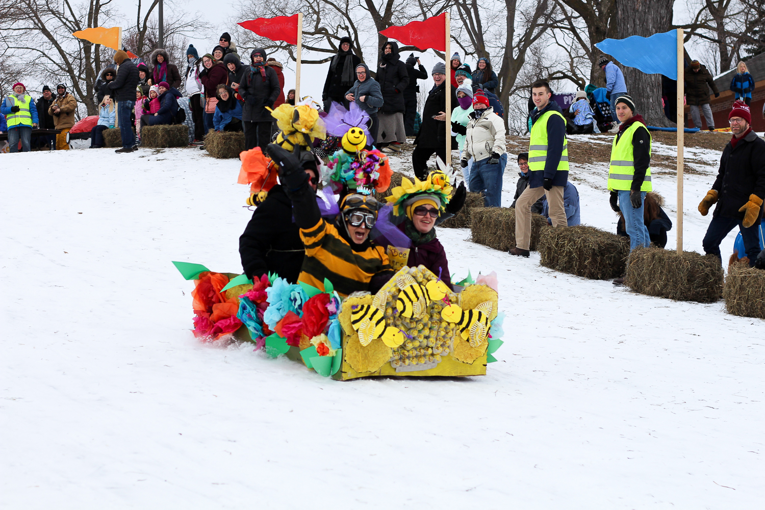 Art Sled Rally at Powderhorn Park in Minneapolis