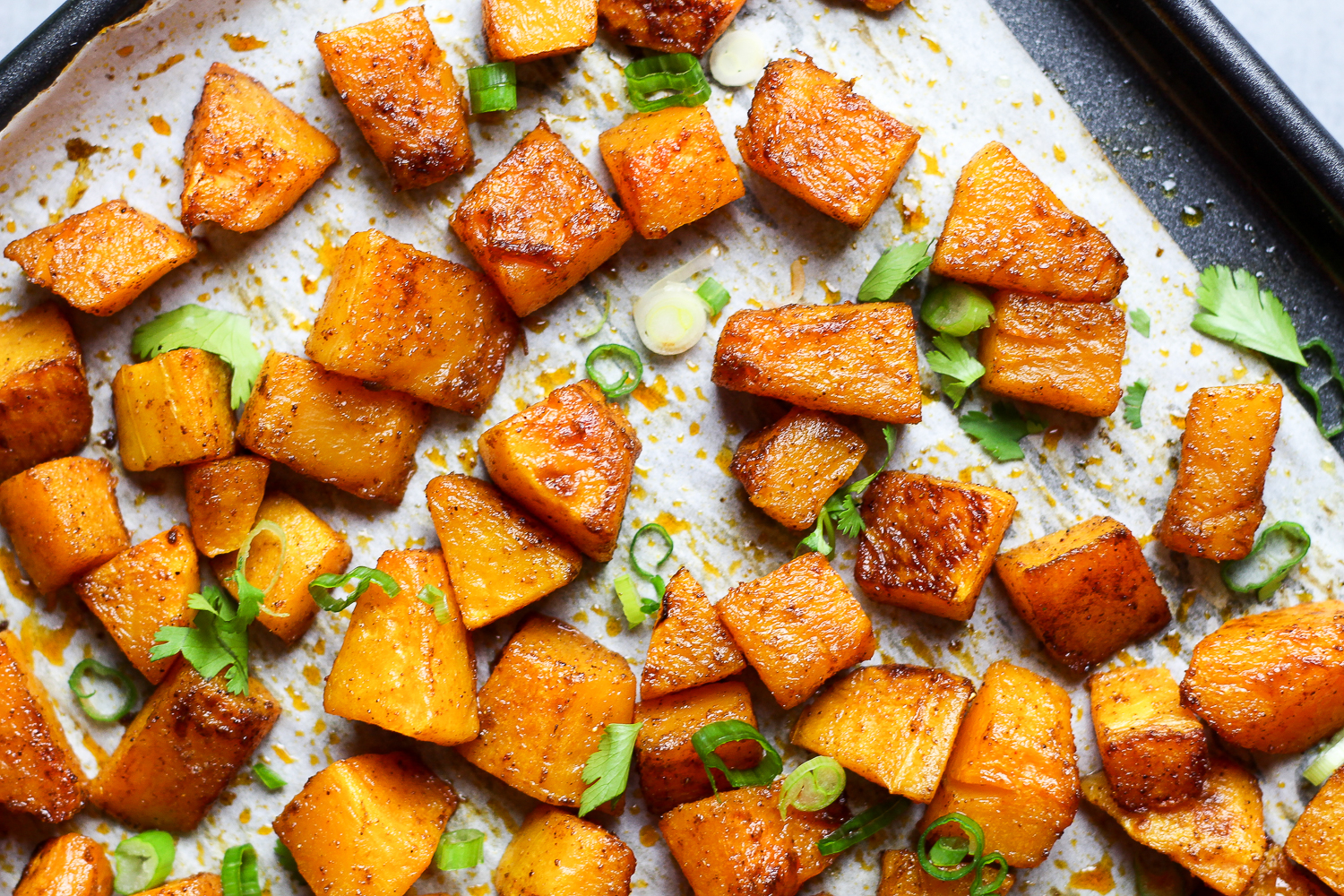 Paleo Cumin Roasted Butternut Squash Recipe via Worthy Pause