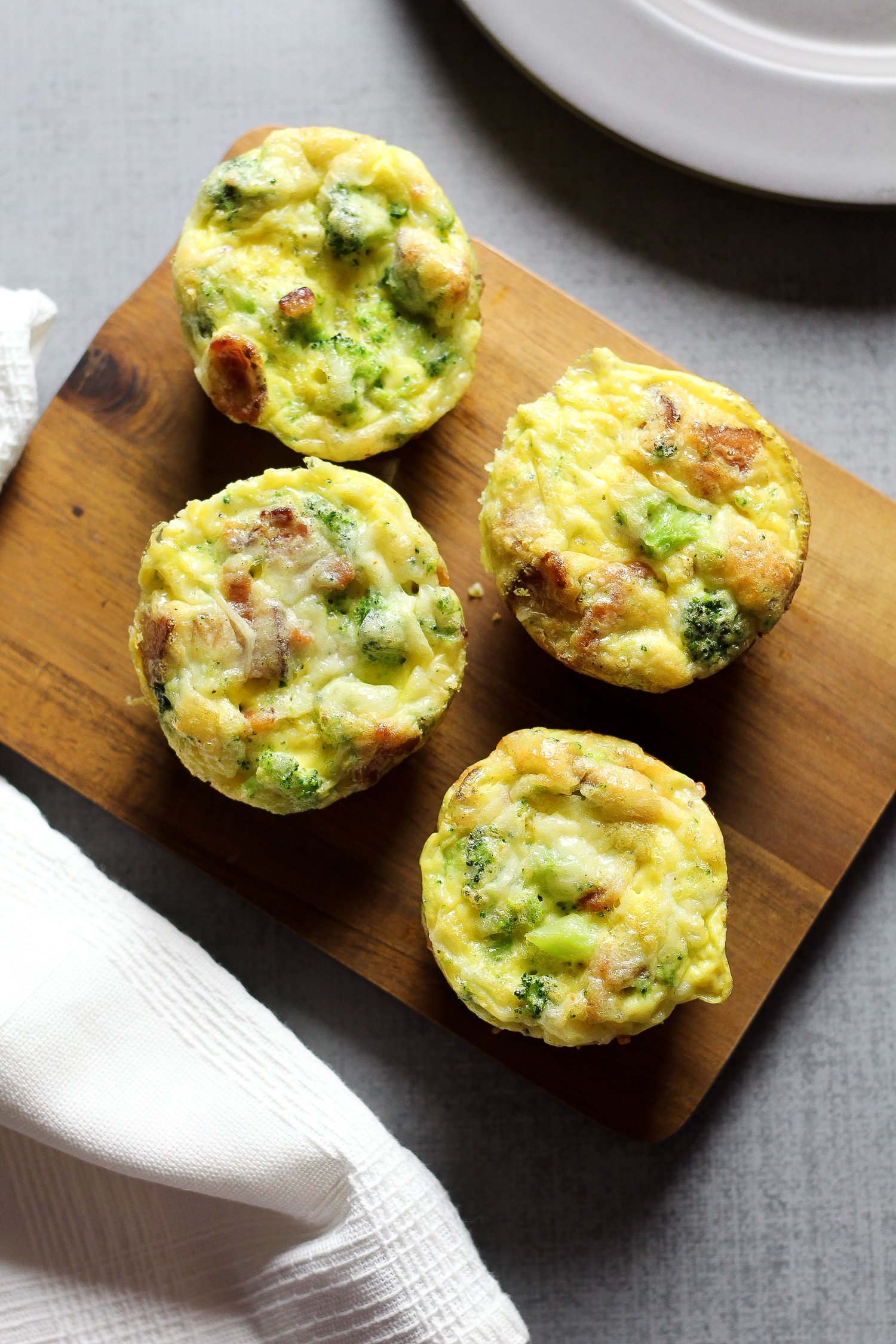 Paleo Bacon & Broccoli Egg Muffins Recipe via Worthy Pause