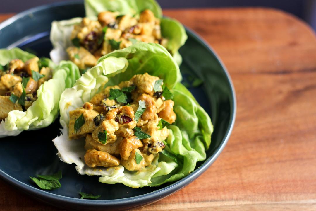 Paleo Curry Chicken Salad Recipe via Worthy Pause