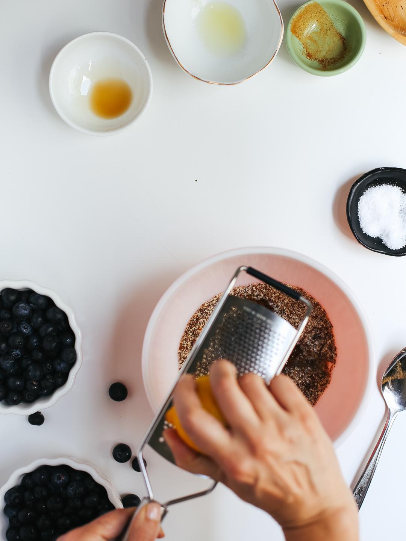 Paleo Blueberry Crisp via Worthy Pause