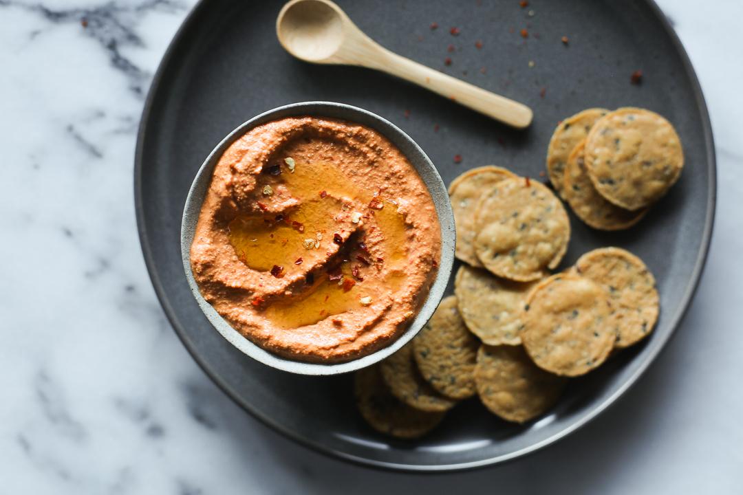 Muhammara Recipe (Syrian Red Pepper + Walnut Dip) via Worthy Pause