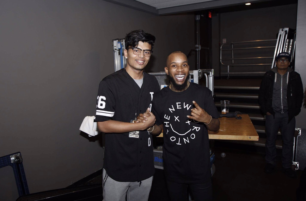 Moments after performing Magic for rapper/singer Tory Lanez