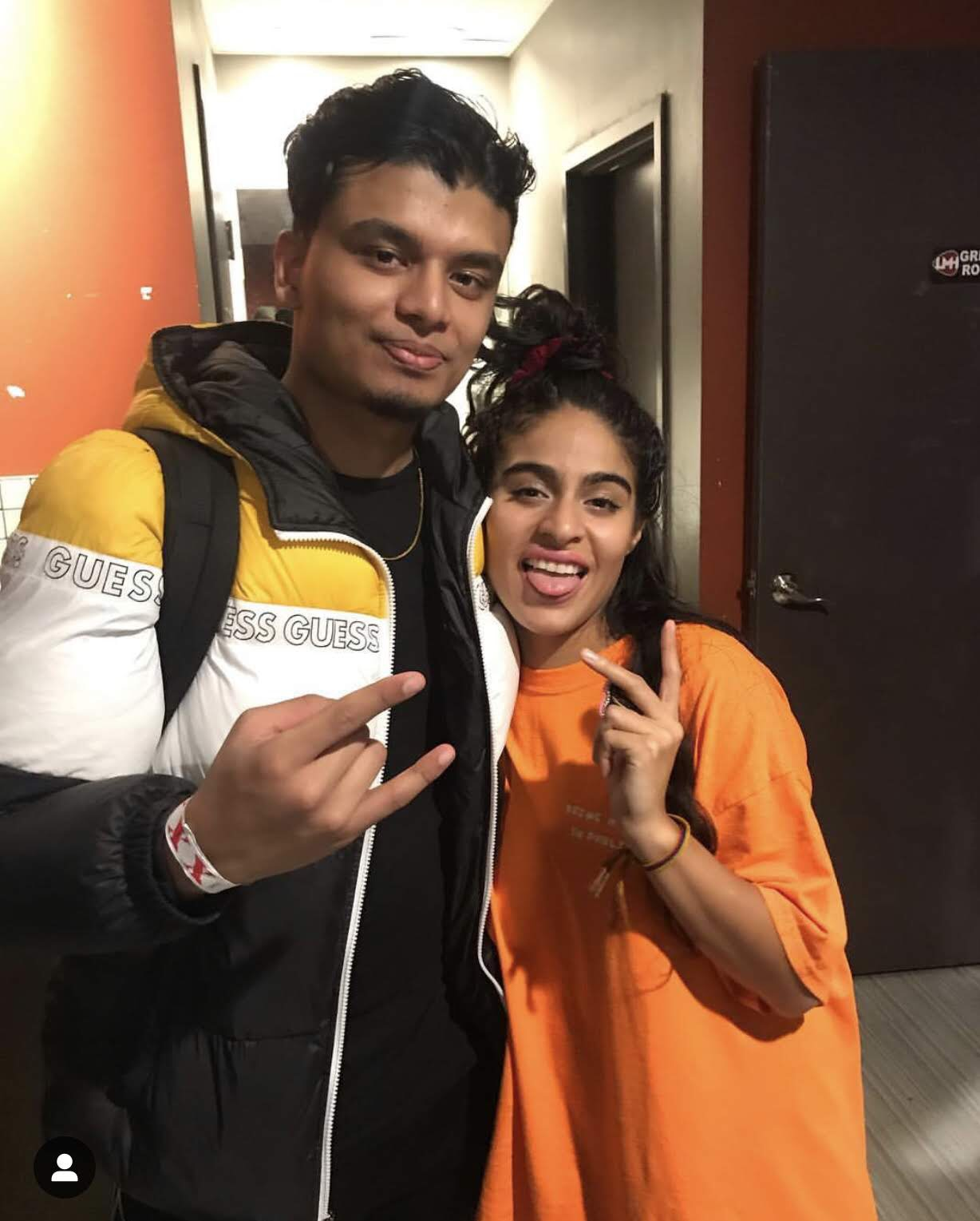 Backstage doing magic for 3 x Juno award winning singer and song writer Jessie Reyez