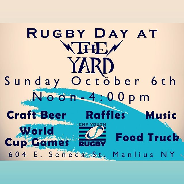 @cnyyouthrugby #repost This Sunday @theyard604 in Manlius. @awwander pouring #craftbeer from Noon-4pm 🤙