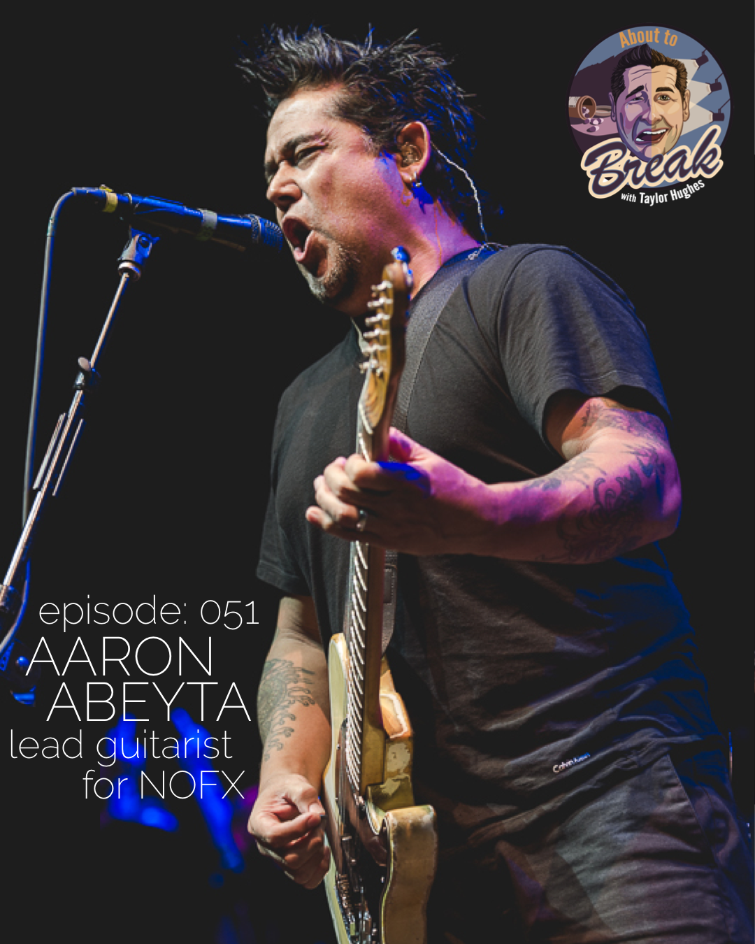 Aaron Abeyta is the lead guitarist and trumpet player for the band NOFX. We sat down and discussed everything from life on the road the last 20 years to him barely surviving a move to Hollywood when he was 21.  In this episode Aaron and I discuss: * His love of Improv Comedy * I'm a total fan boy * Wikipedia can't be trusted * Auditioning for NOFX * Fat Mike changed his name * Learning the bands songs on way to the first show * Being non political in a punk band * Remaining an independent band * How the band has stayed together over 20 years * Trying to get into Groundlings * Bathroom Accidents on stage * Remembering the first time the band could afford a hotel * Having crazy fans follow him home * Pan handling and dumpster diving to survive Hollywood * Everyone should take an improv class * Landing his first role in a movie  …. and never giving up  You can connect with Aaron at   @elhefenofx    Get Tickets to this weeks   Jokers & Aces show    Please take a moment to   rate, share and subscribe   to the show on Apple Podcasts. It makes a huge difference!   Love the show? For as little as $1 a month you can   BECOME A PRODUCER
