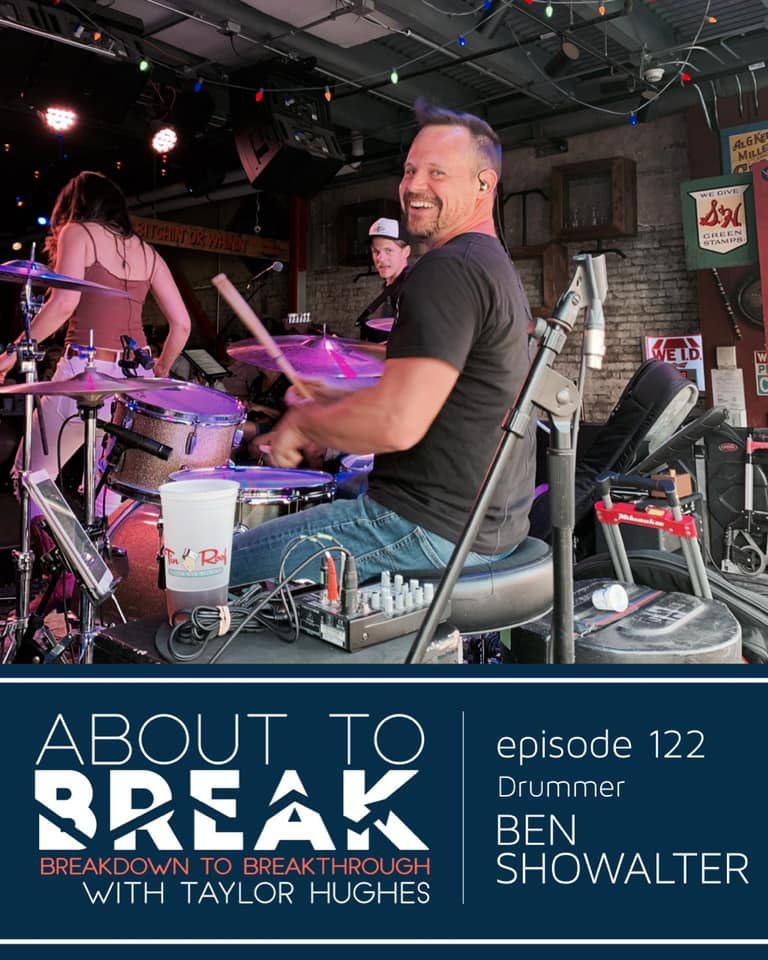 One of the great things about traveling is getting time to see friends who live around the country. This is my buddy Ben Showalter. He's a brilliant drummer, family man and entrepreneur. You can hear Ben and I discuss all this and more on this weeks Episode of About to Break.