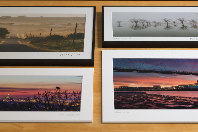 Traditional prints, comparison of framed versus unframed.