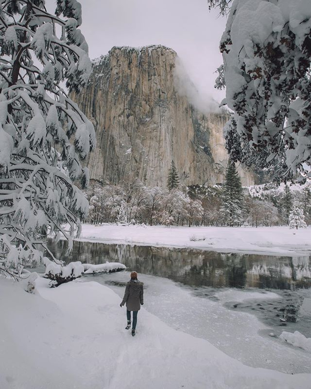 When a dream you've been dreaming of for years finally comes true, and you get to see Yosemite covered in a huge blanket of fresh snow, you forget that it's below 20 degrees and you're actually freezing. I'd stand out here for hours just soaking this view in.