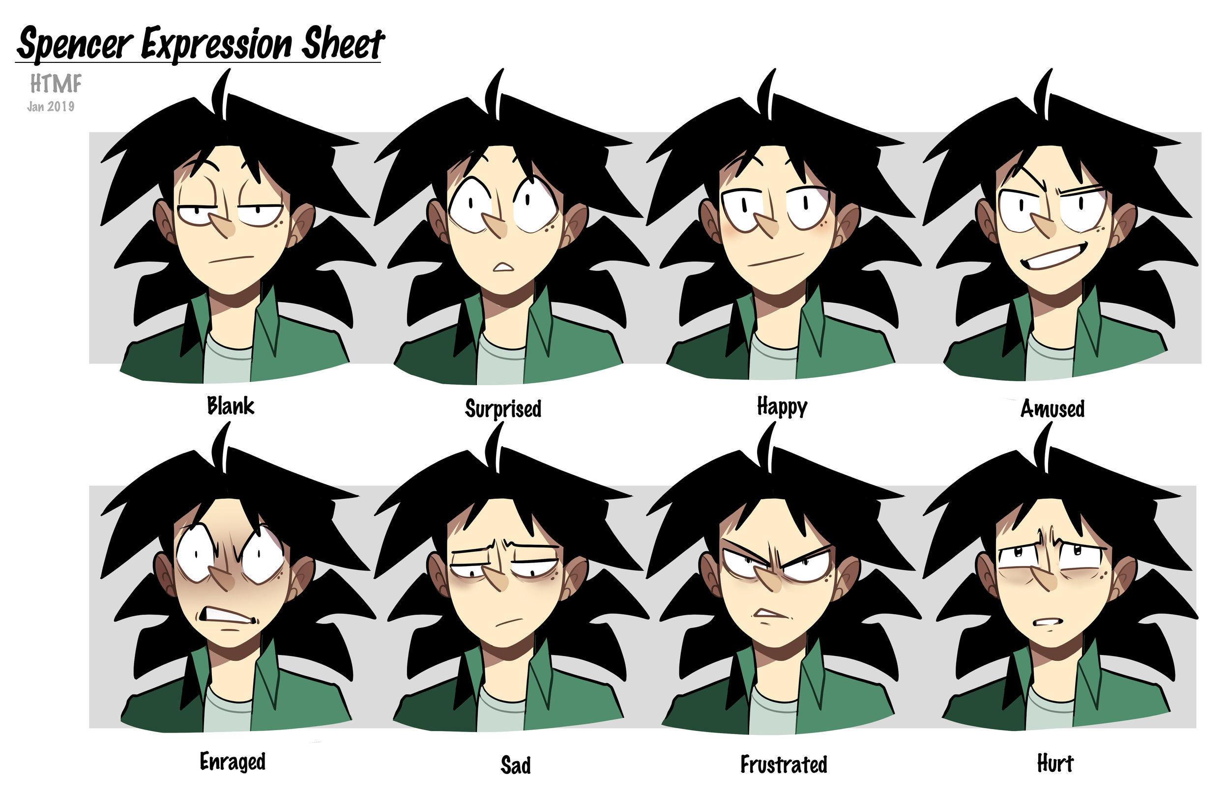 Spencer Expression Sheet