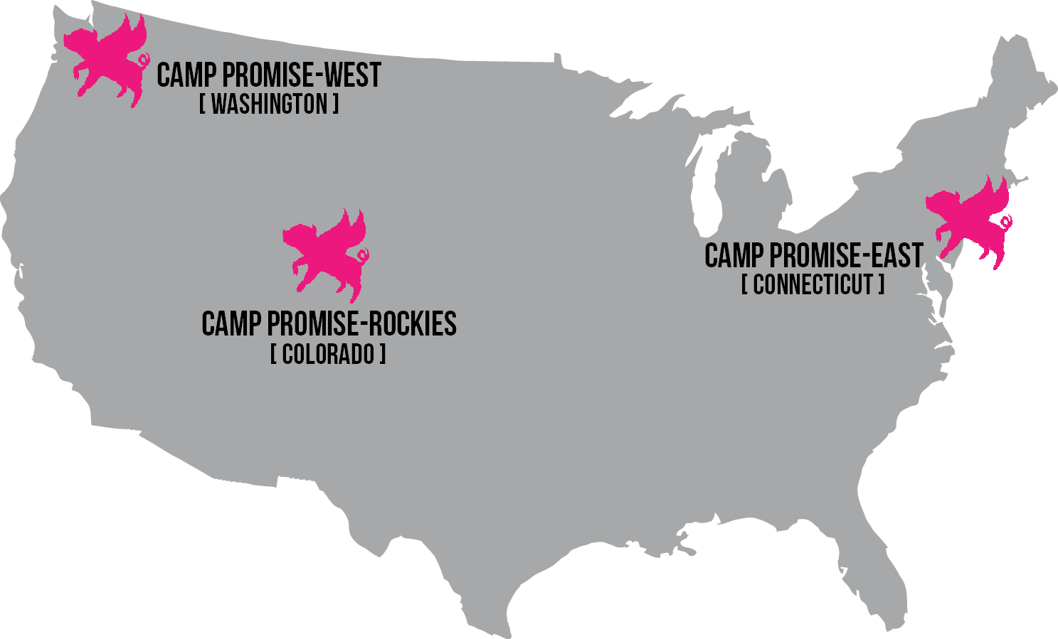Our current Camp Promise locations.