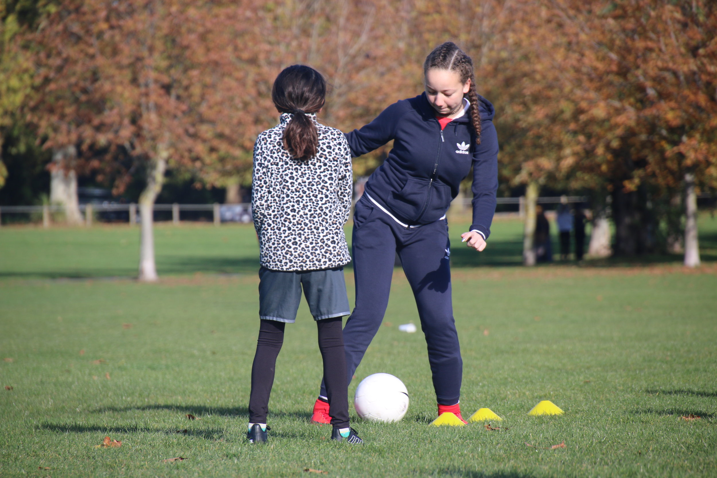 Girls United players are encouraged to be confident in using their skills both on and off the pitch