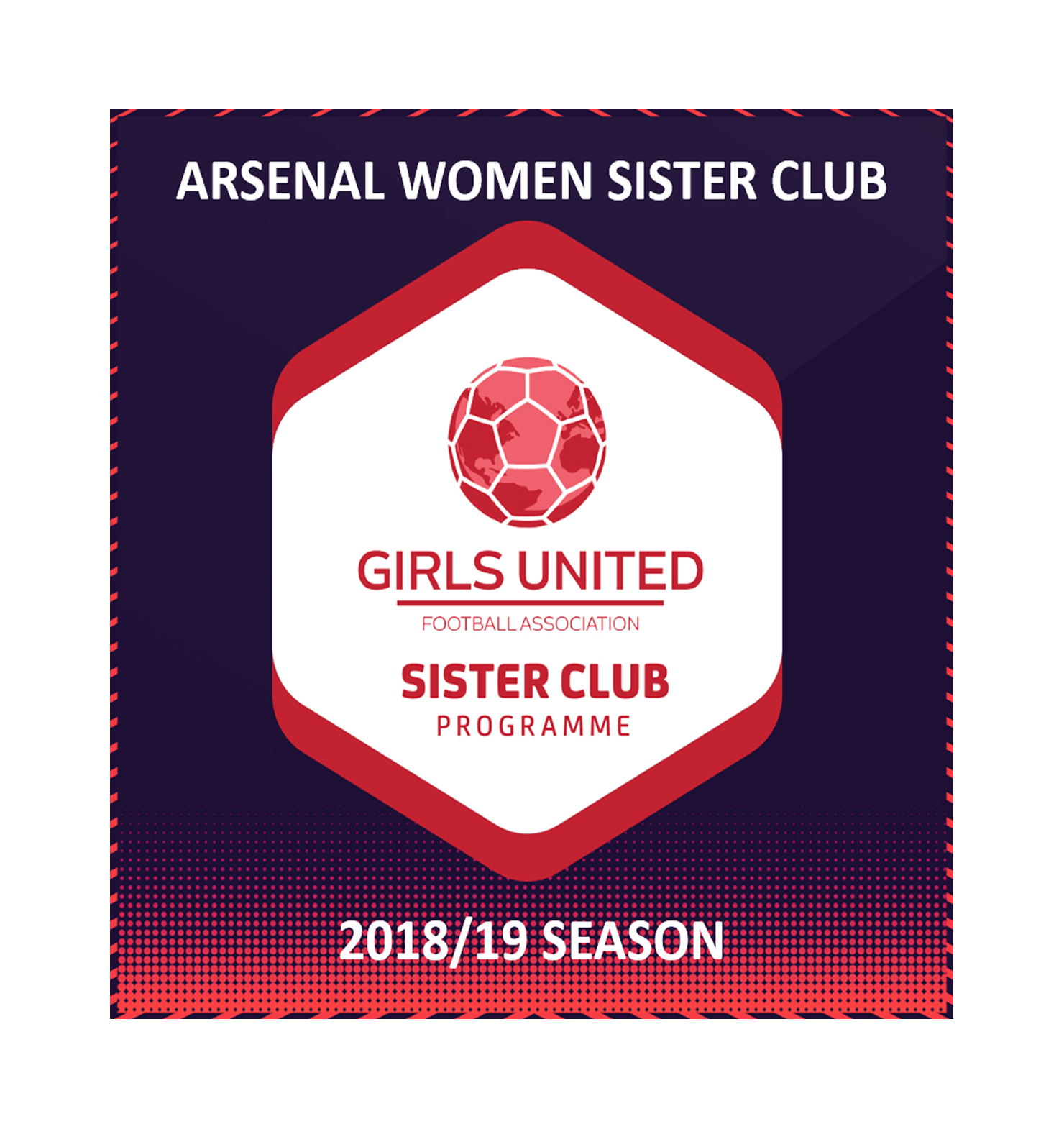 Arsenal Women FC  Sister club programme 2018/19 season