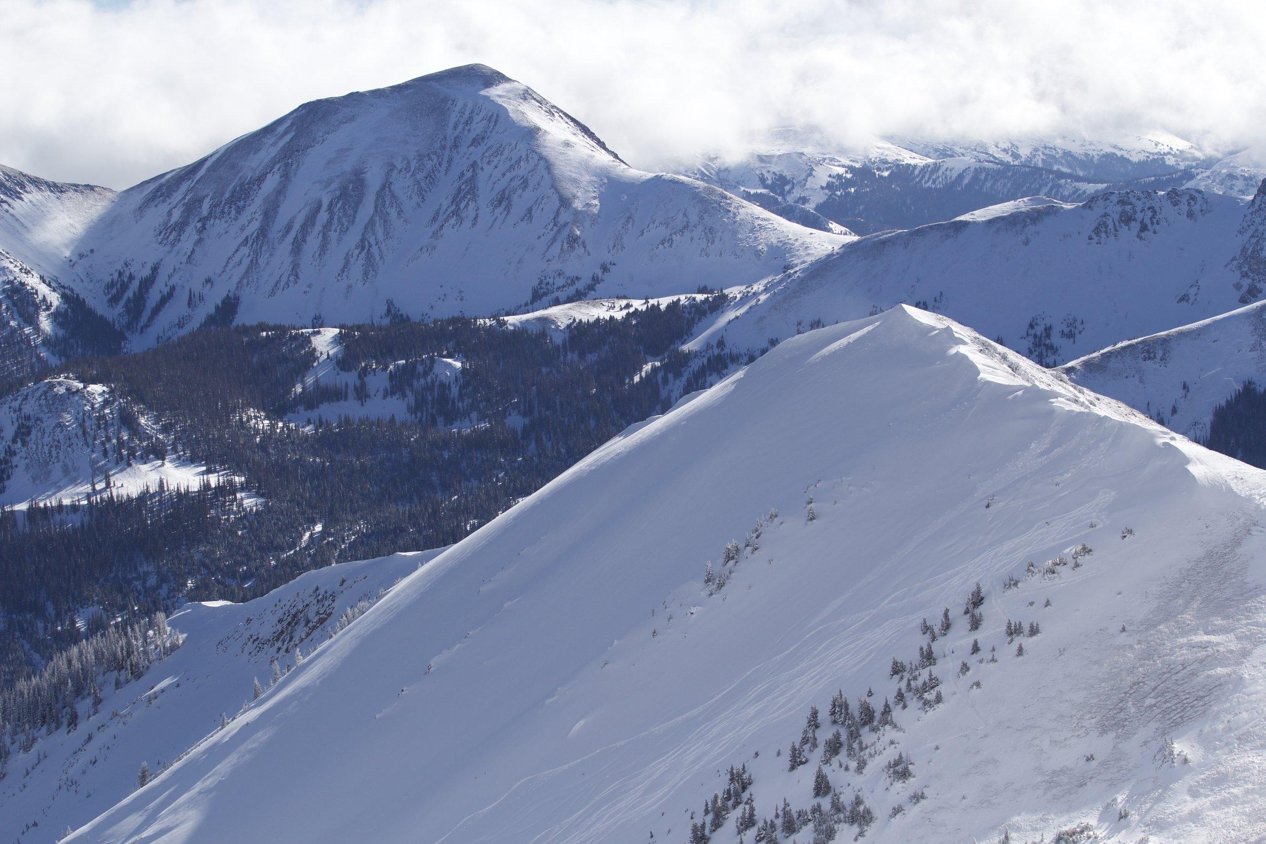 Tracks on South Diamond Peak, Cameron Pass Dec 2016
